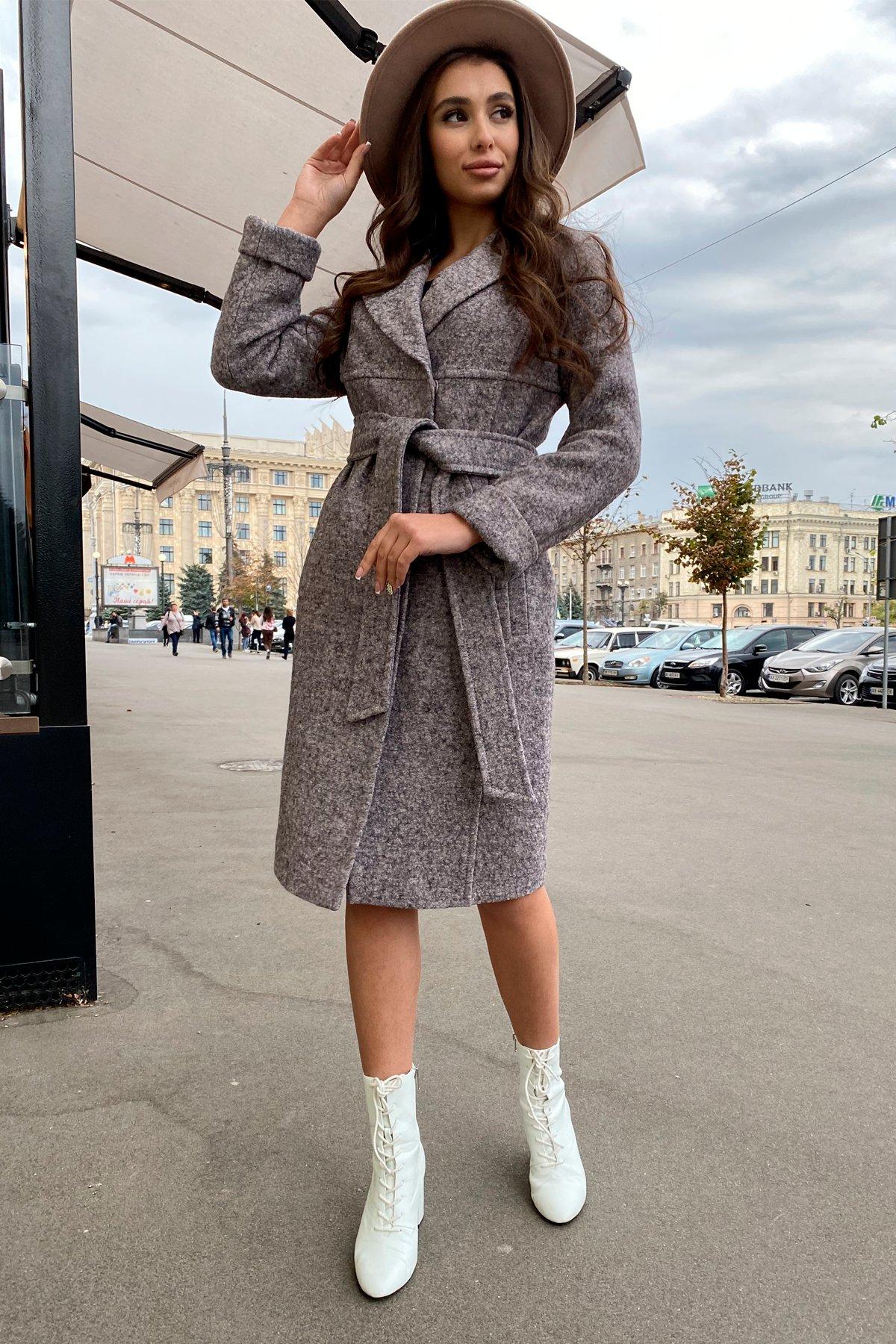 Пальто весна-осень c приспущенной линией плеча Фентези лайт 6365 АРТ. 41230 Цвет: Серо-розовый LW-25 - фото 13, интернет магазин tm-modus.ru
