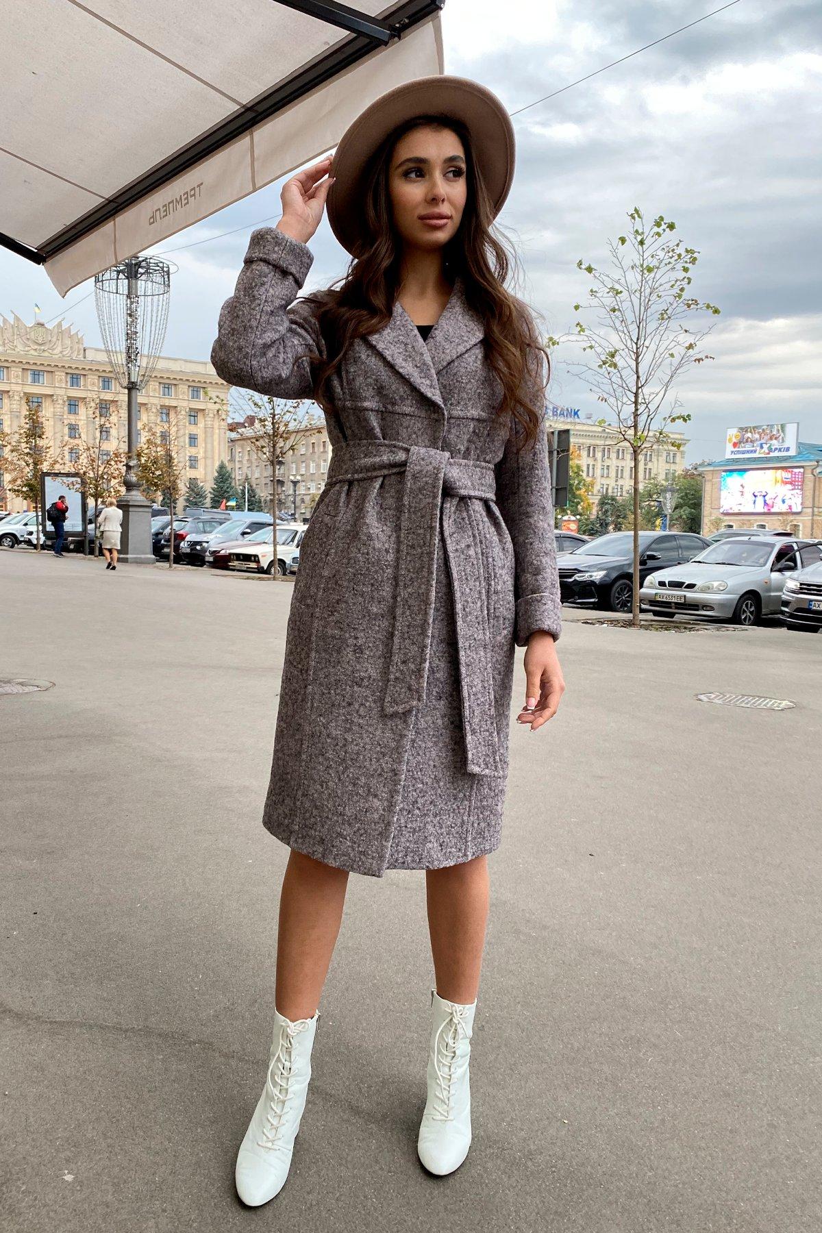 Пальто весна-осень c приспущенной линией плеча Фентези лайт 6365 АРТ. 41230 Цвет: Серо-розовый LW-25 - фото 17, интернет магазин tm-modus.ru