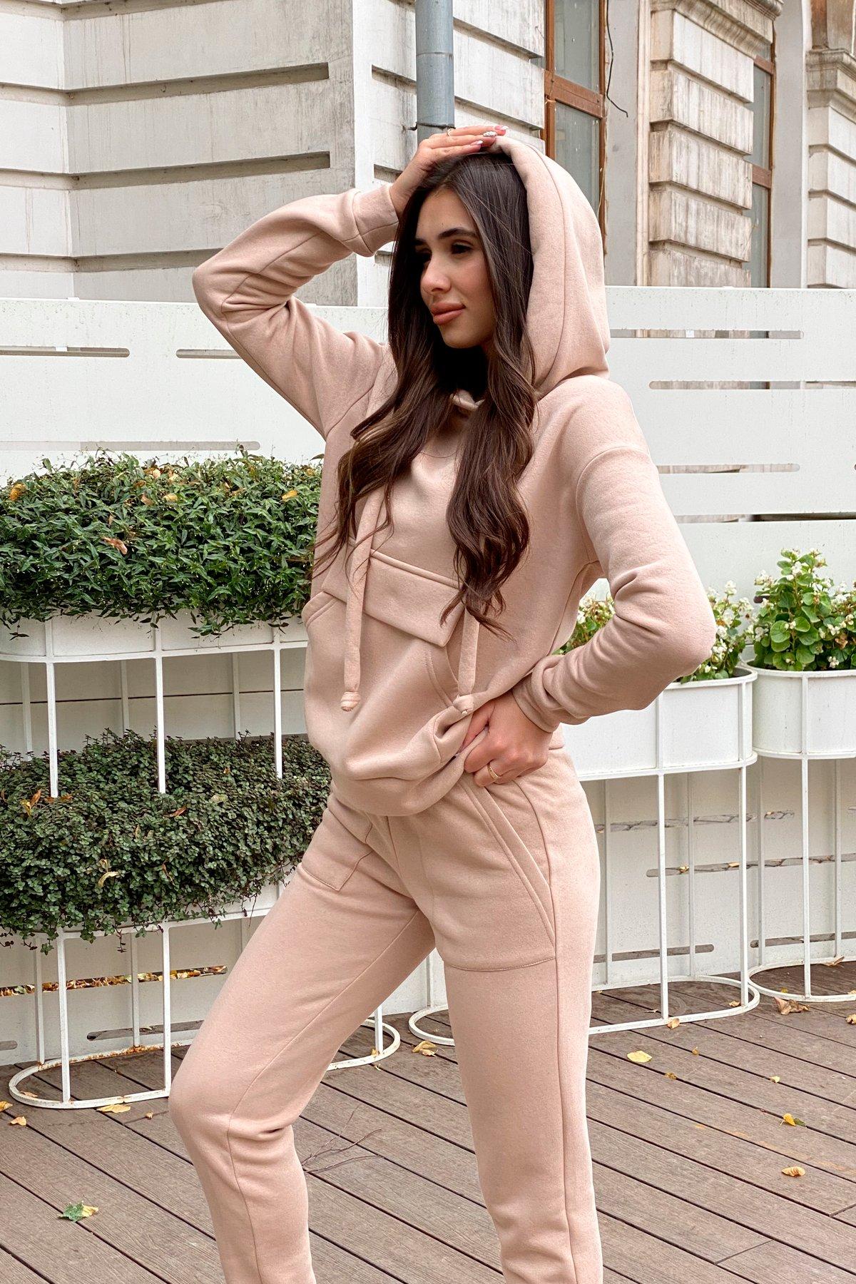 Бруклин  прогулочный костюм 3х нитка с начесом  9663 АРТ. 46213 Цвет: Бежевый - фото 1, интернет магазин tm-modus.ru