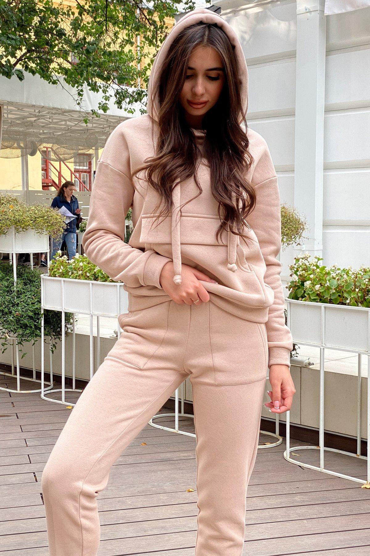 Бруклин  прогулочный костюм 3х нитка с начесом  9663 АРТ. 46213 Цвет: Бежевый - фото 4, интернет магазин tm-modus.ru