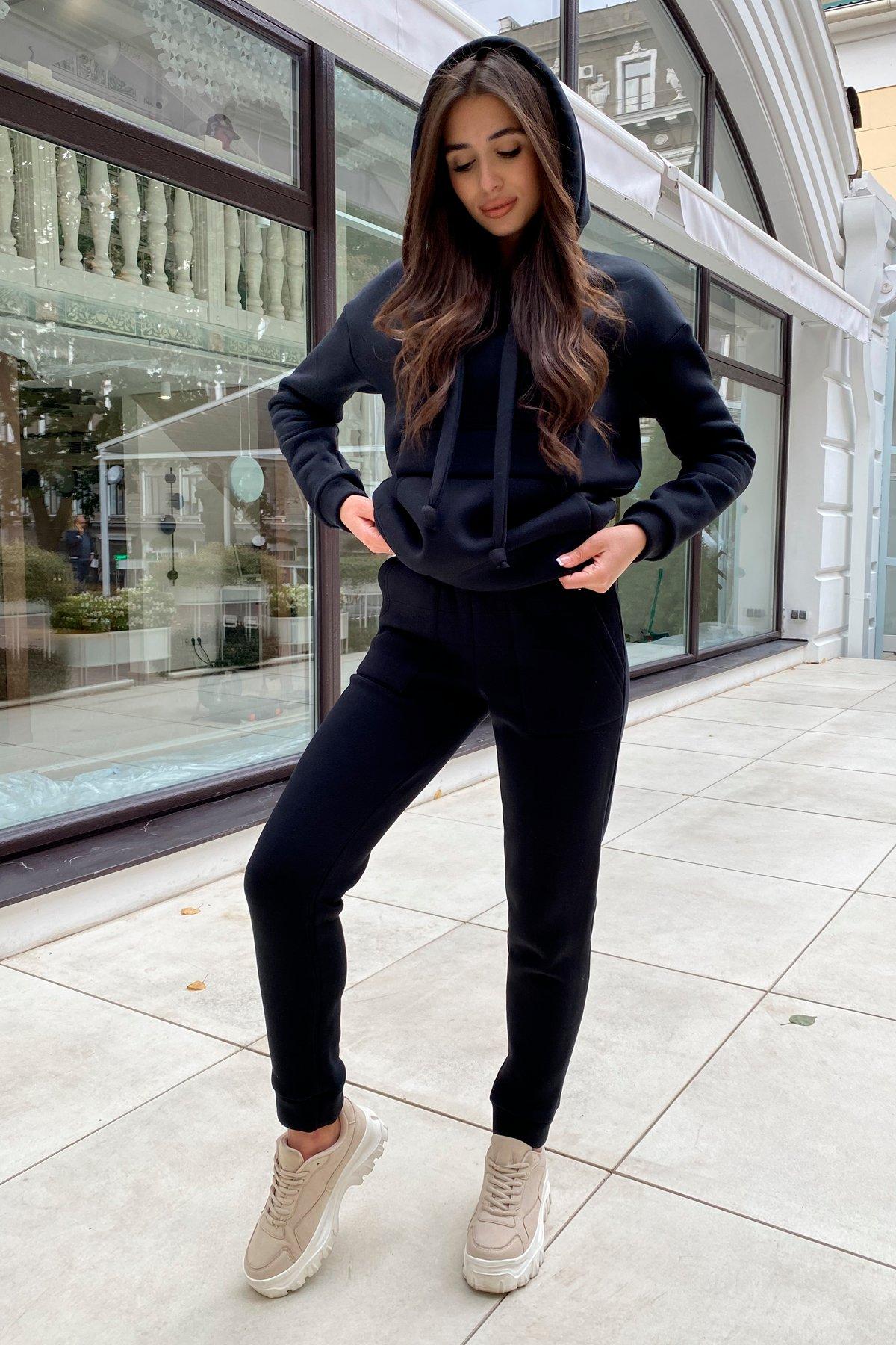 Бруклин  прогулочный костюм 3х нитка с начесом  9663 АРТ. 46088 Цвет: Черный - фото 11, интернет магазин tm-modus.ru