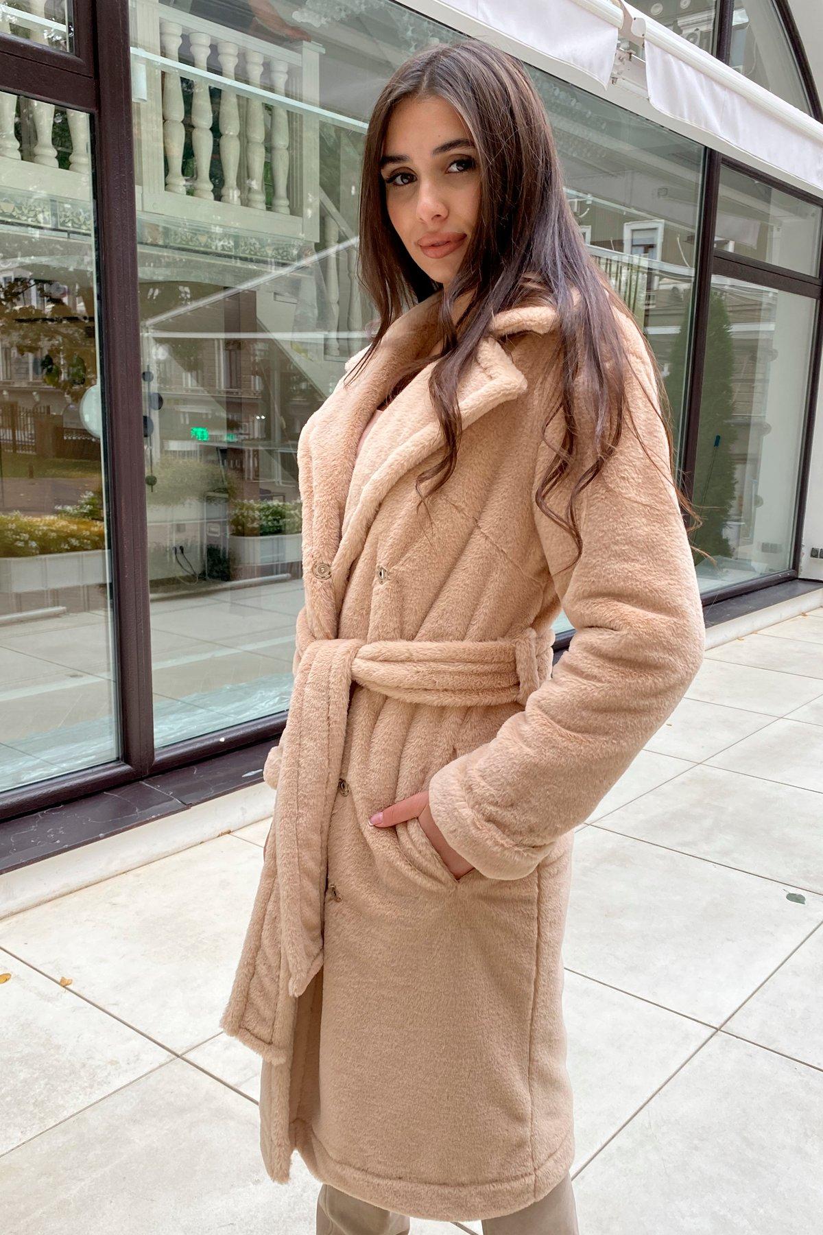 Зимнее пальто из искусственного меха норки Саманта 8641 АРТ. 44956 Цвет: Бежевый - фото 17, интернет магазин tm-modus.ru