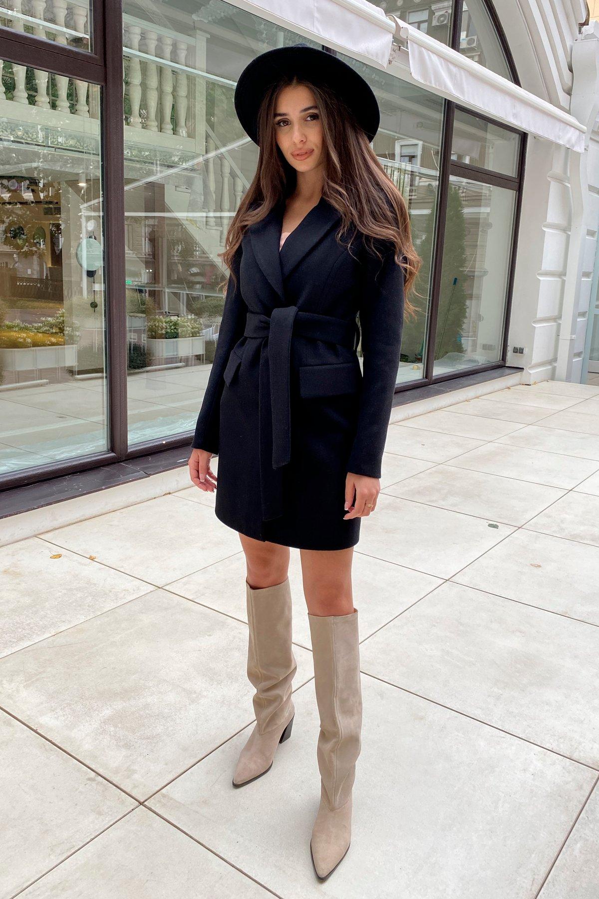 Корси пальто из кашемира 9794 АРТ. 46080 Цвет: Черный - фото 1, интернет магазин tm-modus.ru