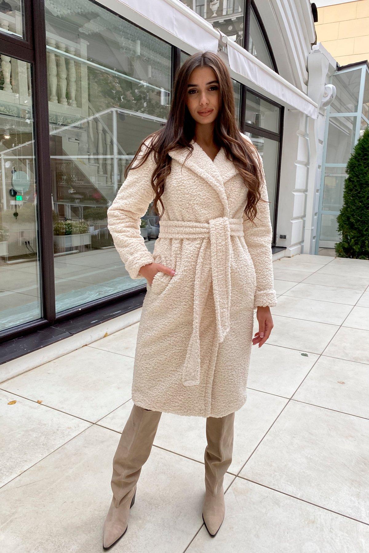 Пальто из эко меха Приора 8564 АРТ. 44887 Цвет: Молоко - фото 8, интернет магазин tm-modus.ru