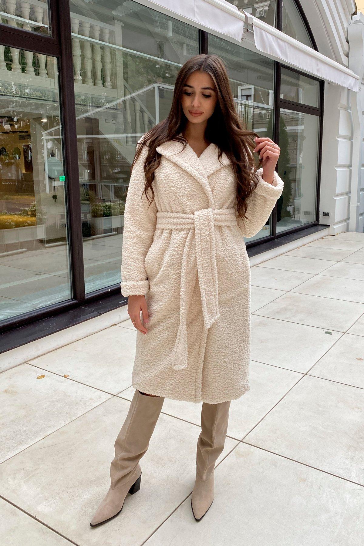 Пальто из эко меха Приора 8564 АРТ. 44887 Цвет: Молоко - фото 15, интернет магазин tm-modus.ru