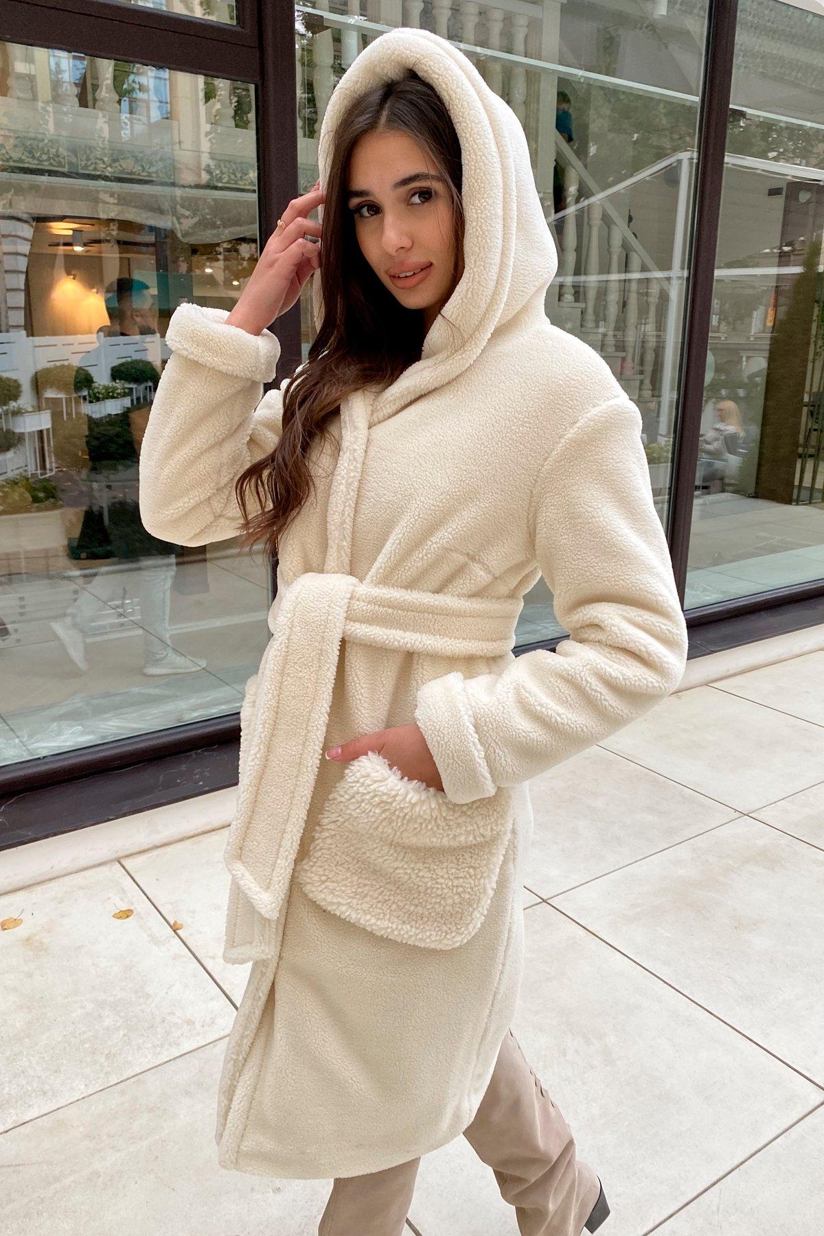 Пальто из искусственного меха Анита 8197 АРТ. 44955 Цвет: Молоко - фото 3, интернет магазин tm-modus.ru