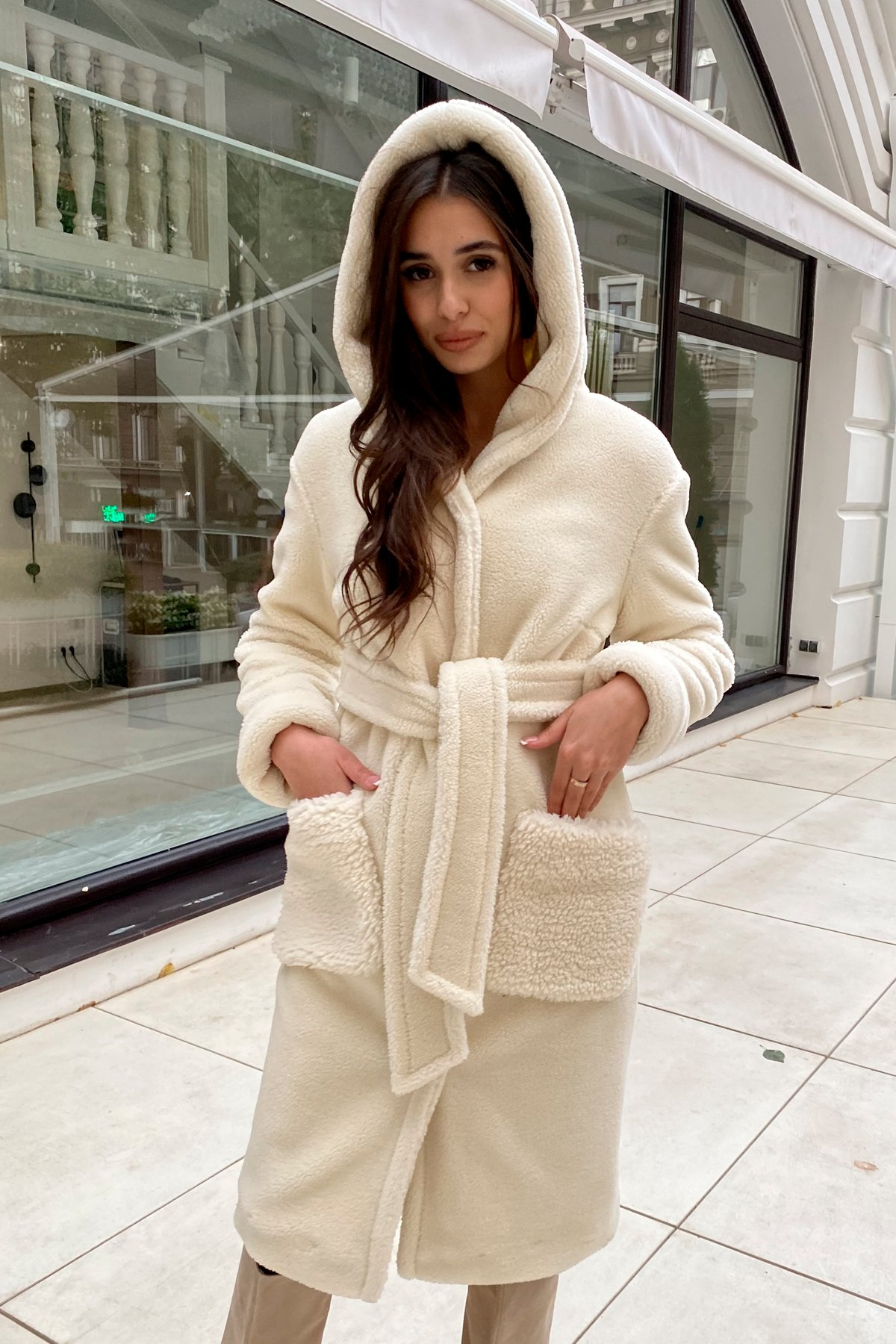 Пальто из искусственного меха Анита 8197