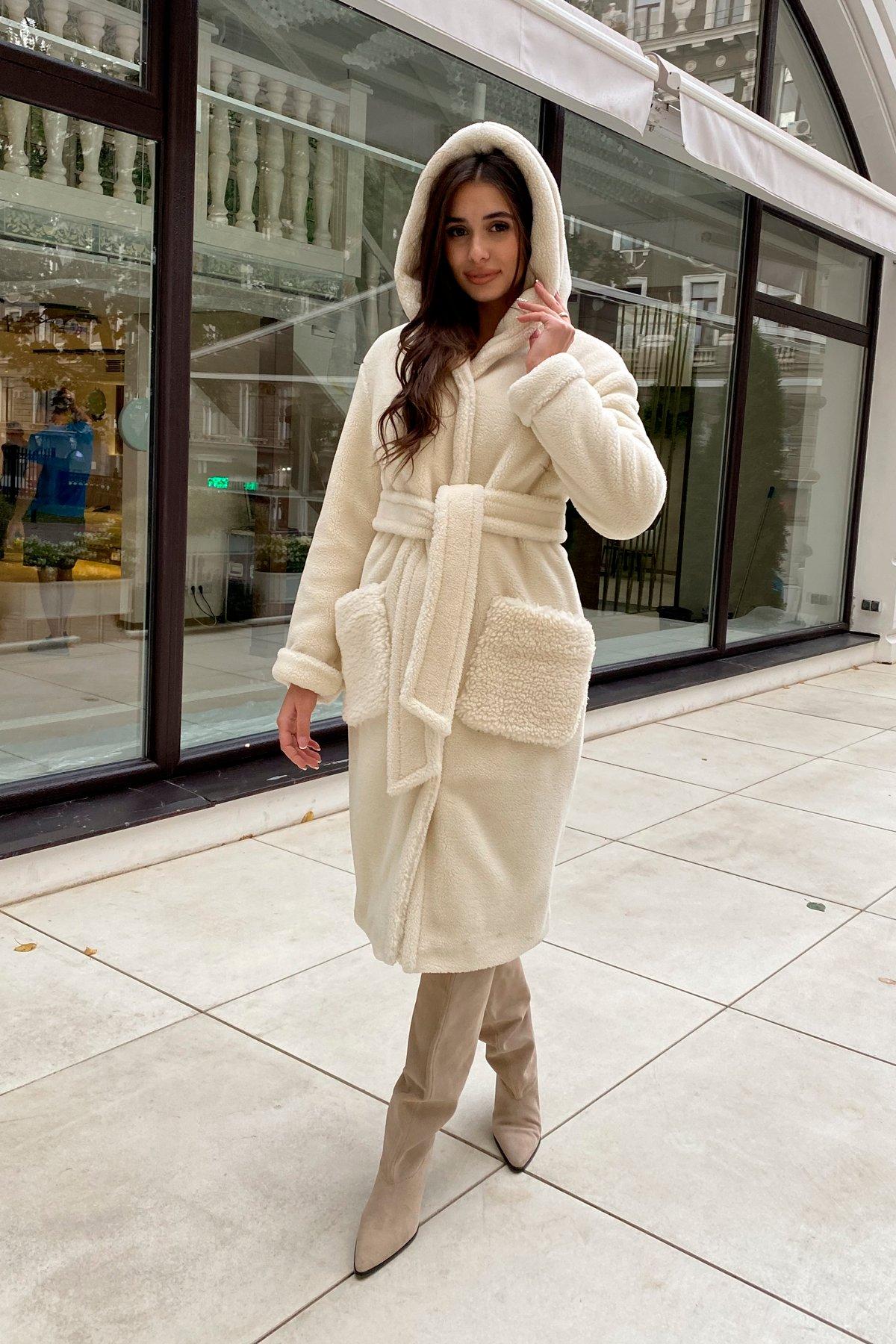 Пальто из искусственного меха Анита 8197 АРТ. 44955 Цвет: Молоко - фото 7, интернет магазин tm-modus.ru