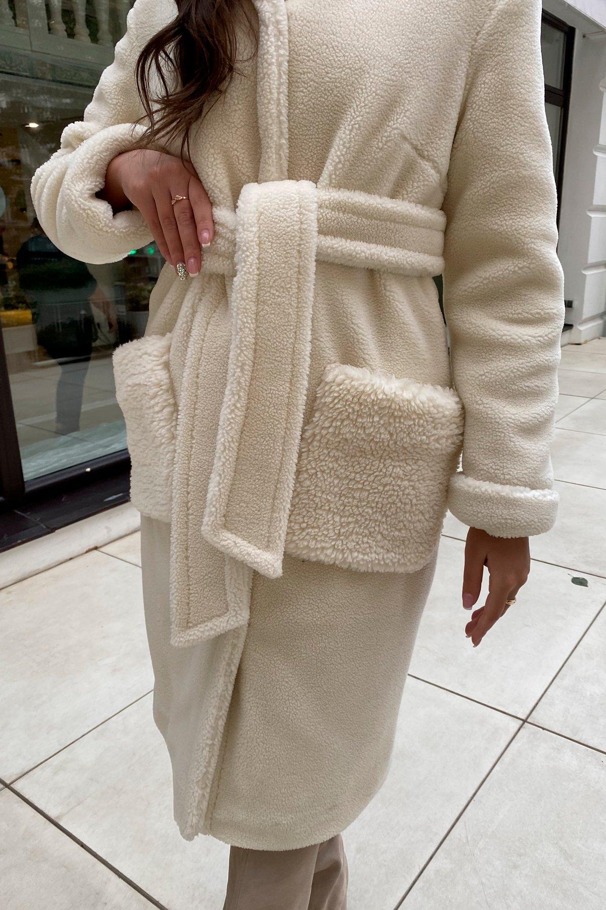 Пальто из искусственного меха Анита 8197 АРТ. 44955 Цвет: Молоко - фото 9, интернет магазин tm-modus.ru