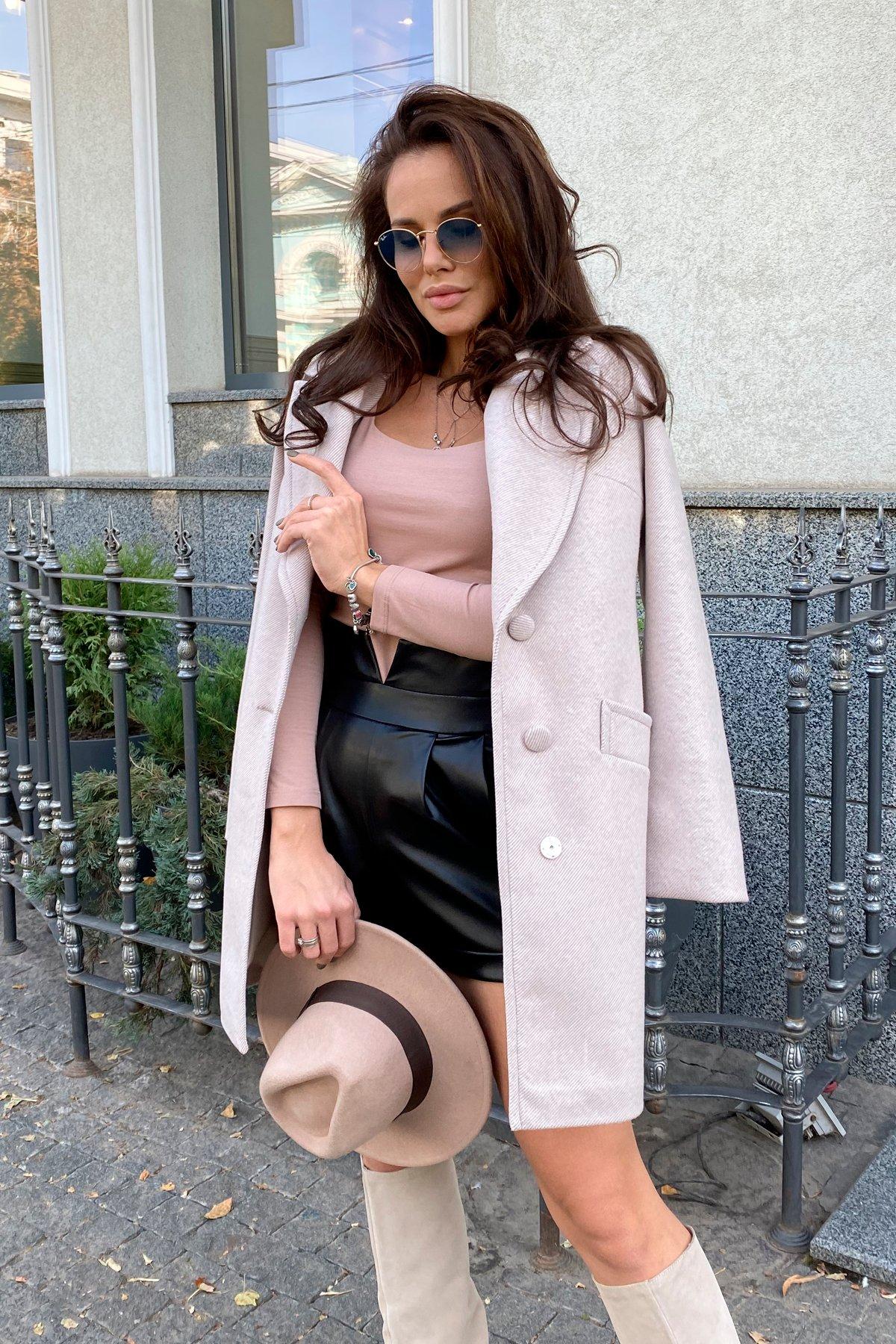 Вейсона Диагональ пальтовая ткань пальто 9876 АРТ. 46163 Цвет: Бежевый Светлый - фото 3, интернет магазин tm-modus.ru