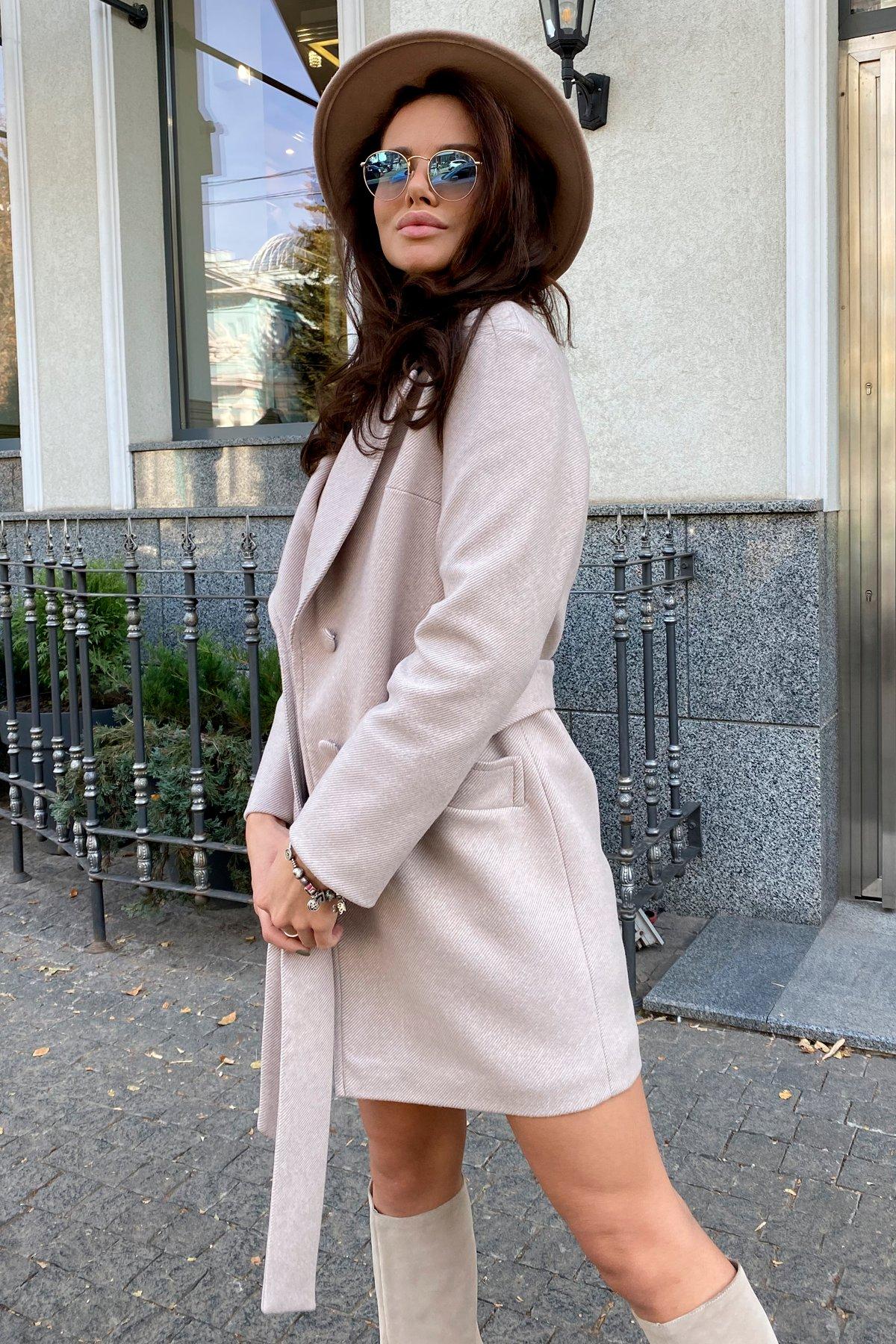 Вейсона Диагональ пальтовая ткань пальто 9876 АРТ. 46163 Цвет: Бежевый Светлый - фото 4, интернет магазин tm-modus.ru