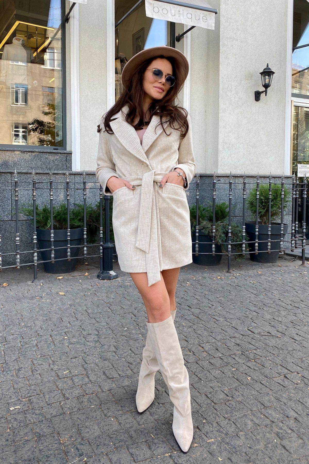 Купить женское пальто в Украине Вейсона клетка комби пальтовая ткань пальто 9874