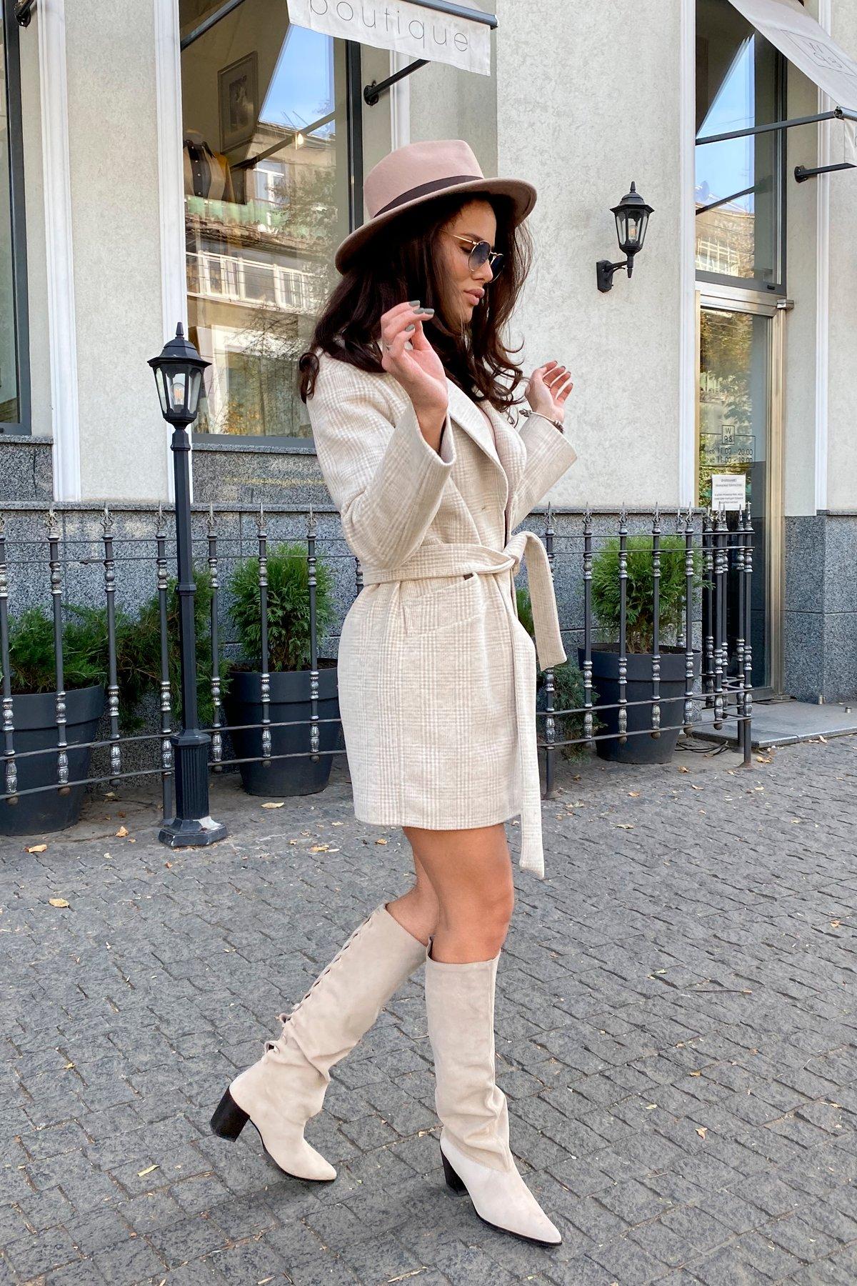 Вейсона кашемир на трикотаже текстурный пальто 9872 АРТ. 46160 Цвет: Бежевый/молоко - фото 3, интернет магазин tm-modus.ru