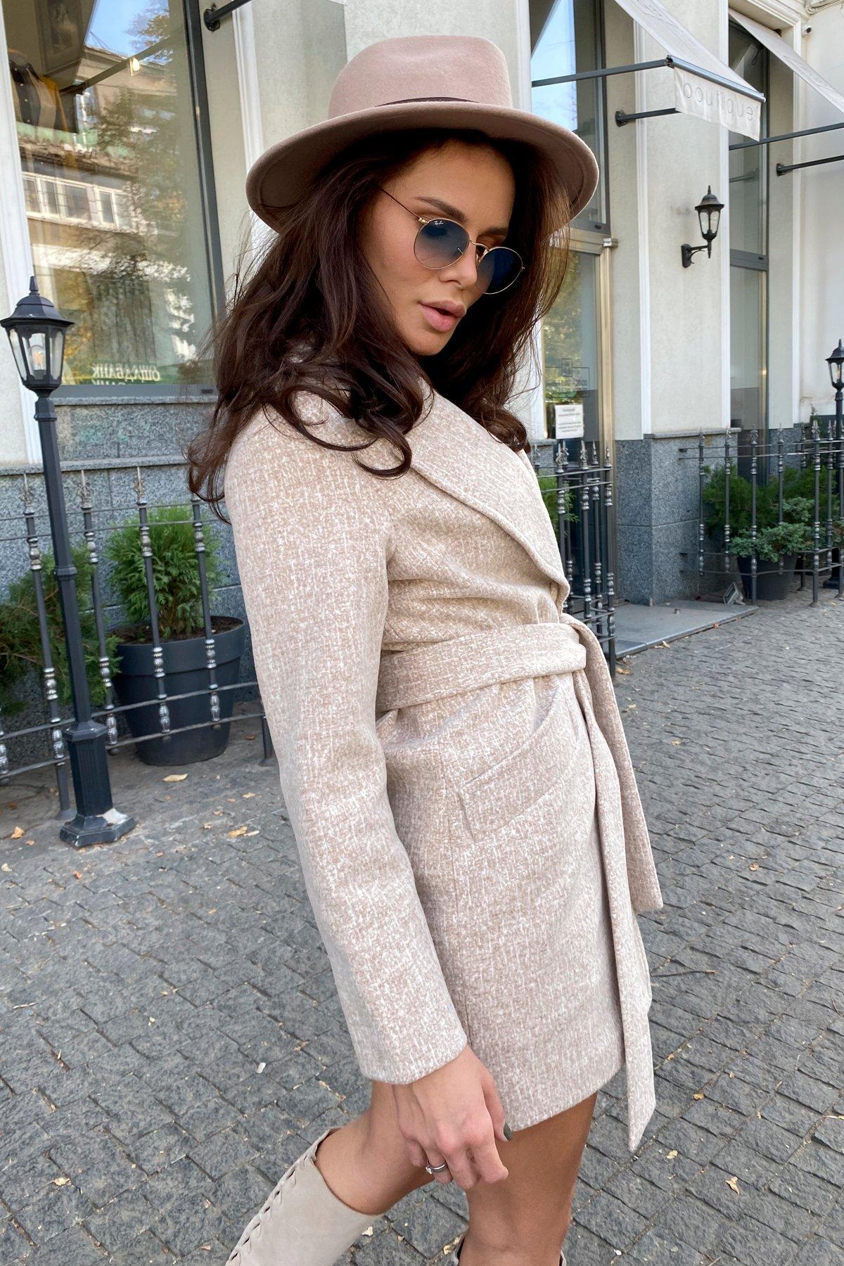 Вейсона кашемир на трикотаже текстурный пальто 9872 АРТ. 46160 Цвет: Бежевый/молоко - фото 14, интернет магазин tm-modus.ru