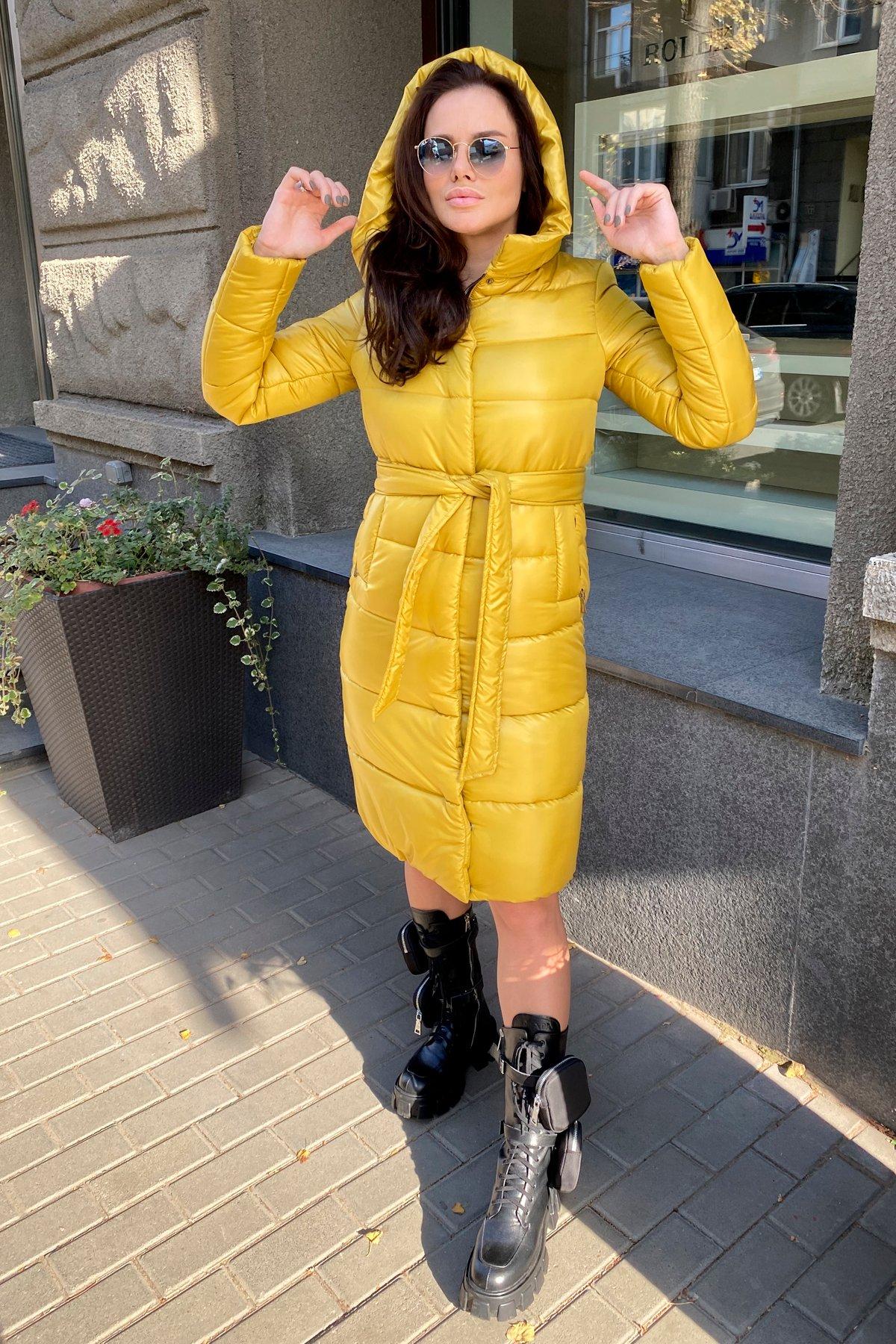 Удлиненный зимний пуховик с поясом Сигма 8040 АРТ. 44913 Цвет: Горчица - фото 16, интернет магазин tm-modus.ru