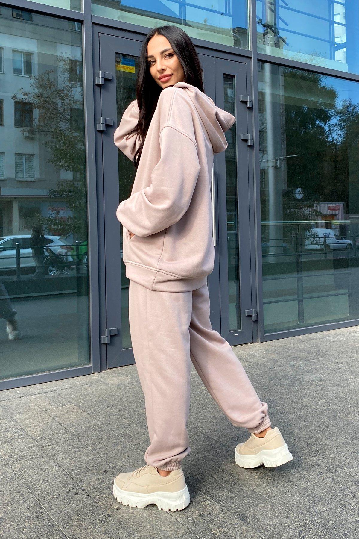Марион Oversize трикотаж 3х нитка костюм 9533 Цвет: Кофе