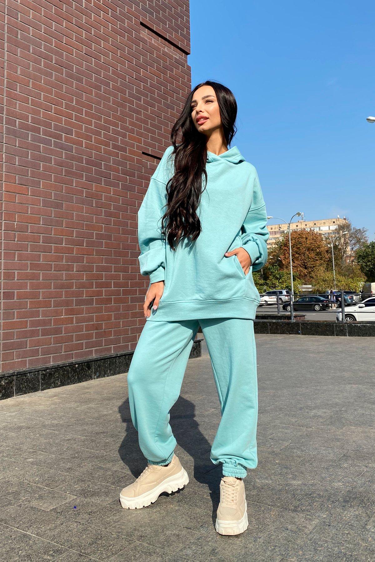 Марион Oversize трикотаж 3х нитка костюм 9533 Цвет: Олива