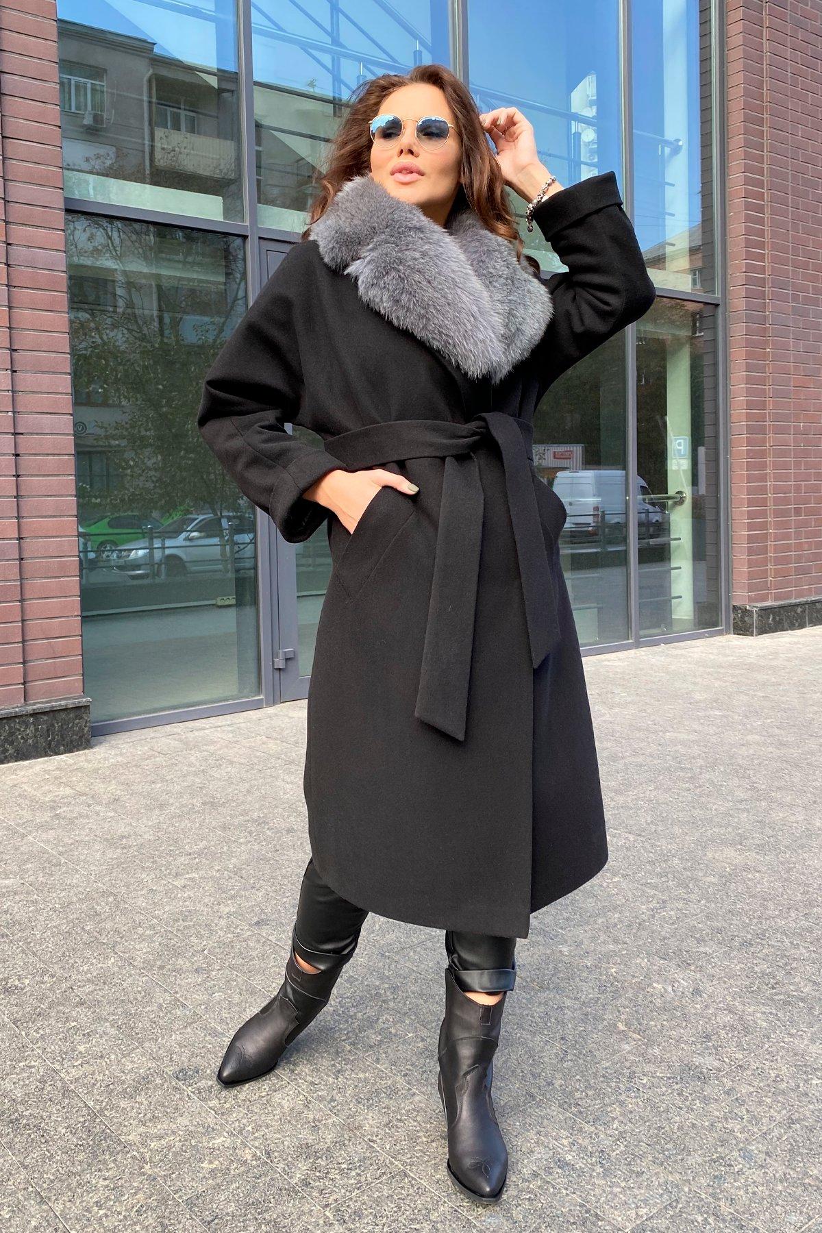 Влада памела пальто из кашемира 9962 АРТ. 46250 Цвет: Черный - фото 2, интернет магазин tm-modus.ru