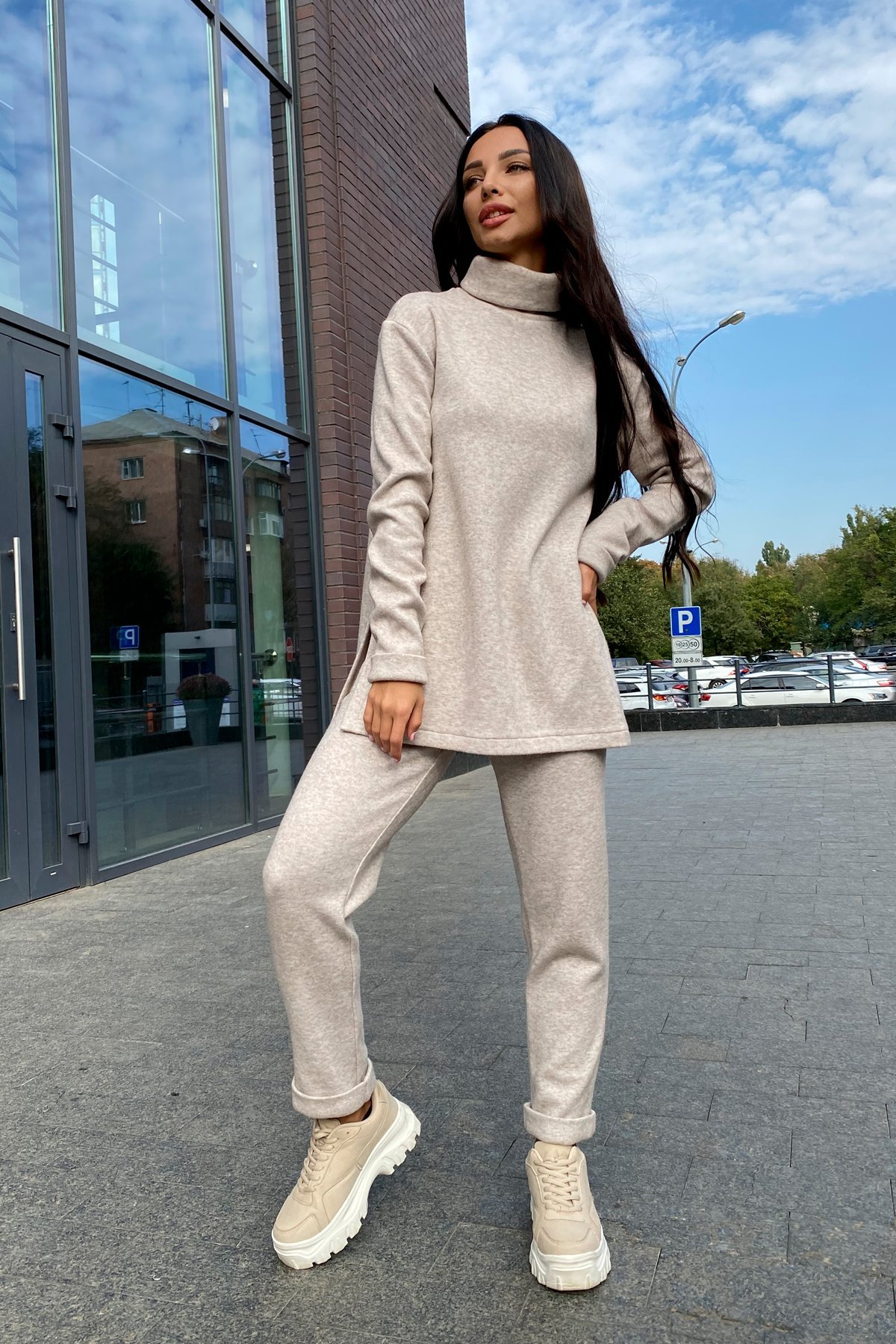 Люкс прогулочный костюм  из ангоры  9975 АРТ. 46263 Цвет: Бежевый 3 - фото 5, интернет магазин tm-modus.ru
