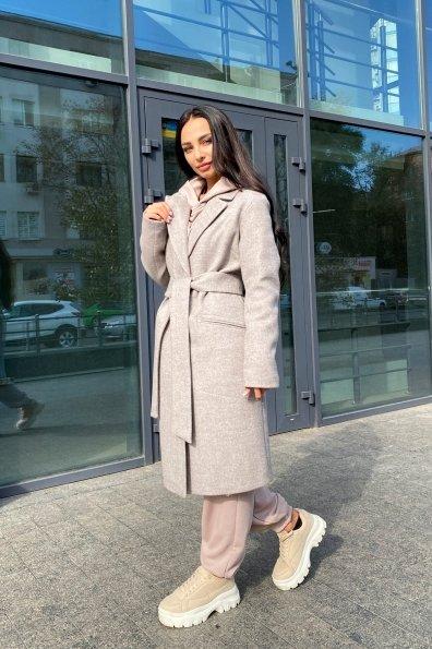 Пальто миди с прорезными карманами Ждана лайт 6337 Цвет: Бежевый 31