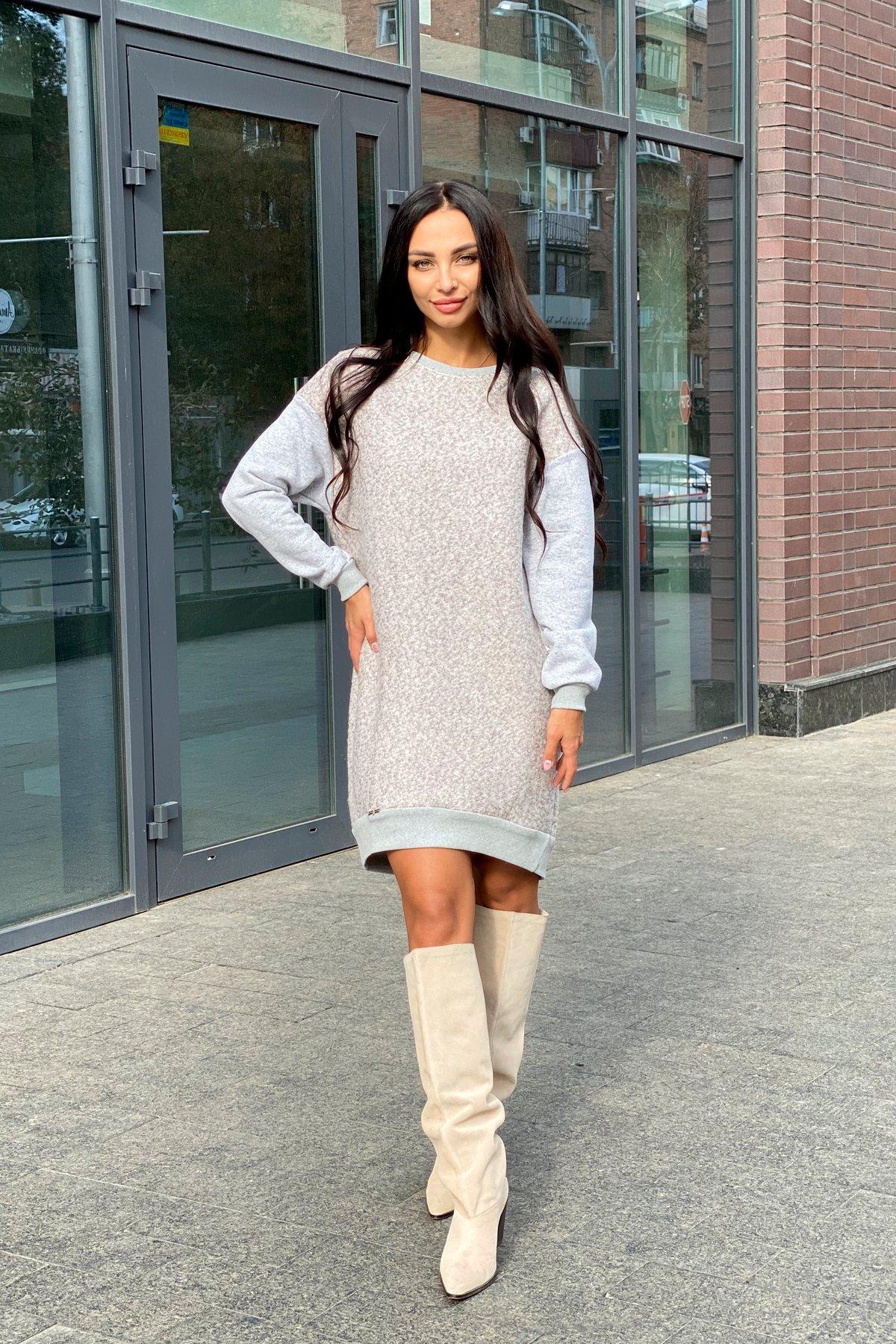Платье Сорри 6266 Цвет: Серый Св/бежевый