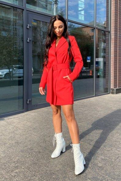 Стильное платье-жакет Маркиза 8095 Цвет: Красный