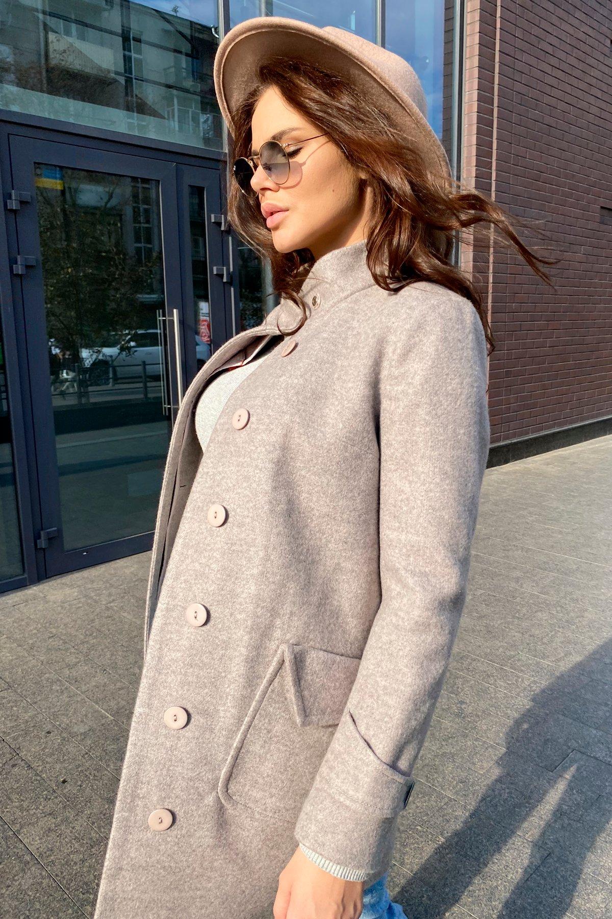 Демисезонное пальто с воротником стойка Эста 5417 АРТ. 37566 Цвет: Бежевый 31 - фото 3, интернет магазин tm-modus.ru
