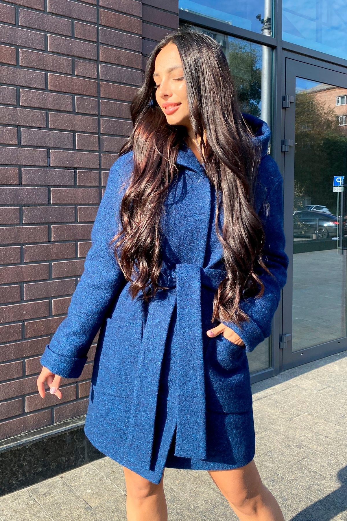 Анита шерсть варенка зима без меха пальто 9936 АРТ. 46222 Цвет: т.синий/электрик 27 - фото 3, интернет магазин tm-modus.ru