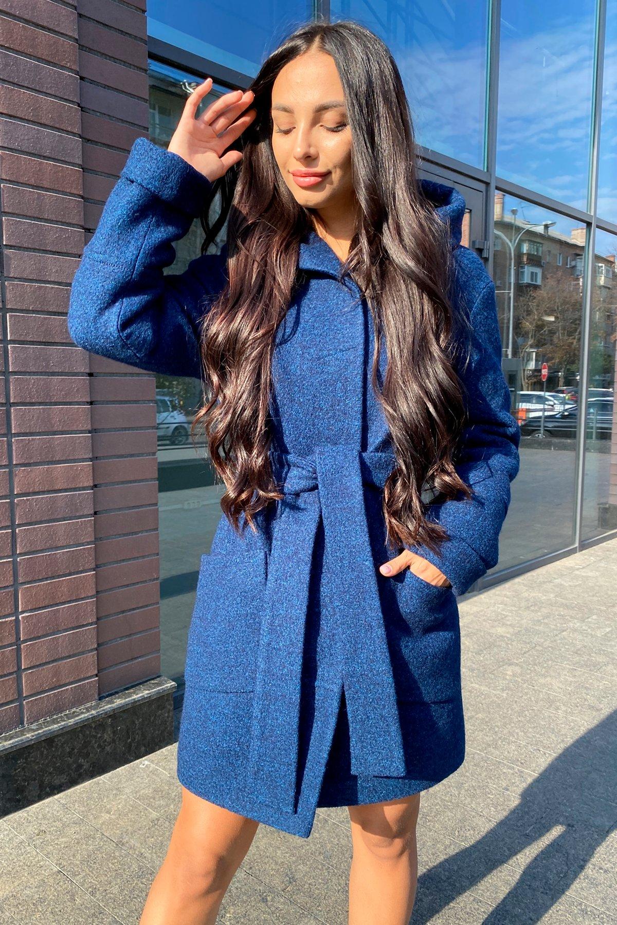 Анита шерсть варенка зима без меха пальто 9936 АРТ. 46222 Цвет: т.синий/электрик 27 - фото 6, интернет магазин tm-modus.ru