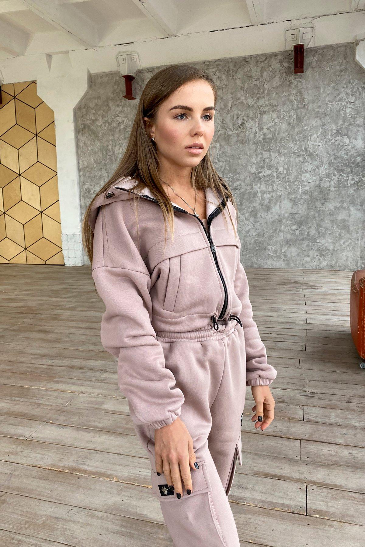 Кьюи  прогулочный костю 3х нитка с начесом 9933 АРТ. 46259 Цвет: Кофе - фото 10, интернет магазин tm-modus.ru