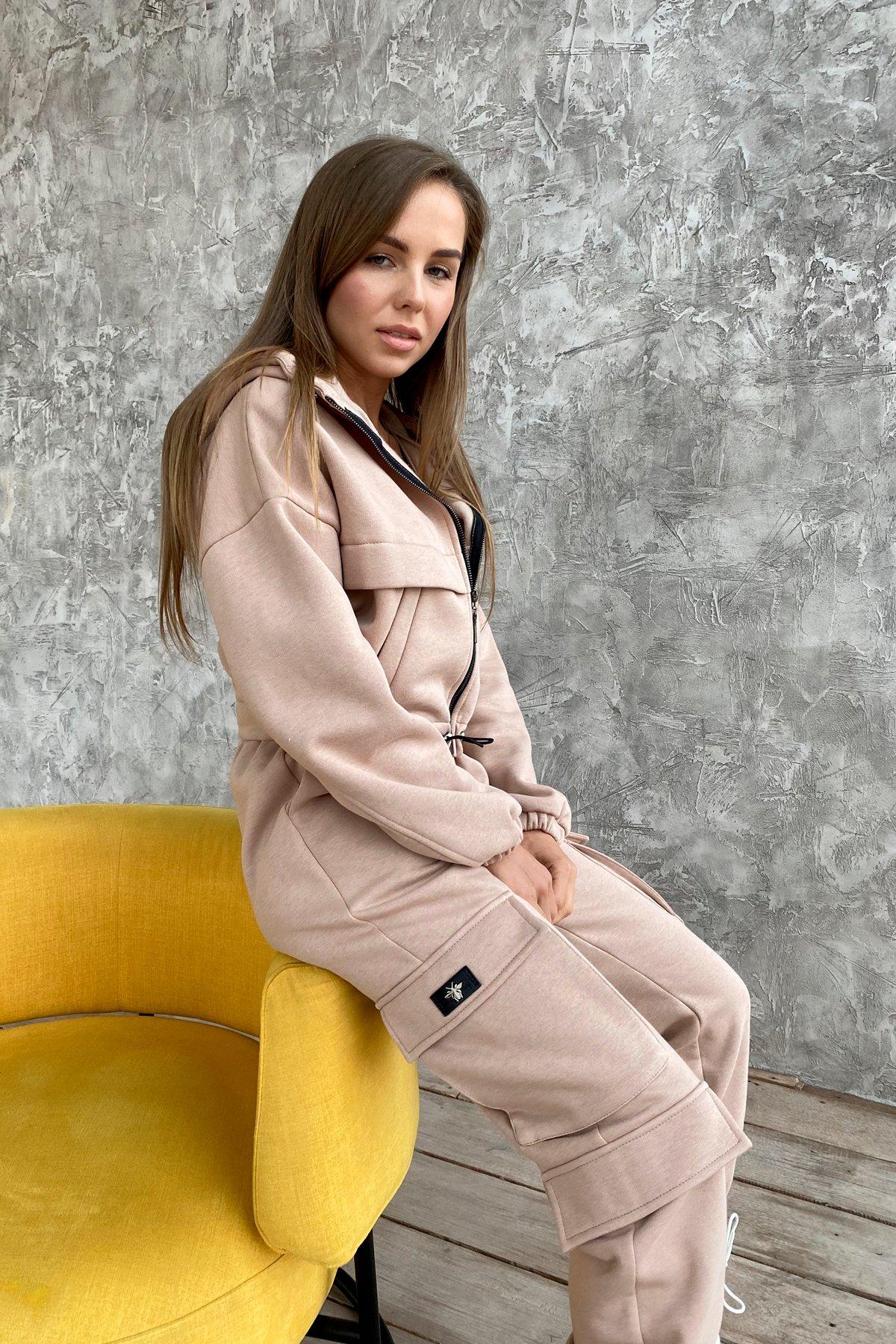 Кьюи  прогулочный костю 3х нитка с начесом 9933 АРТ. 46257 Цвет: Бежевый - фото 2, интернет магазин tm-modus.ru