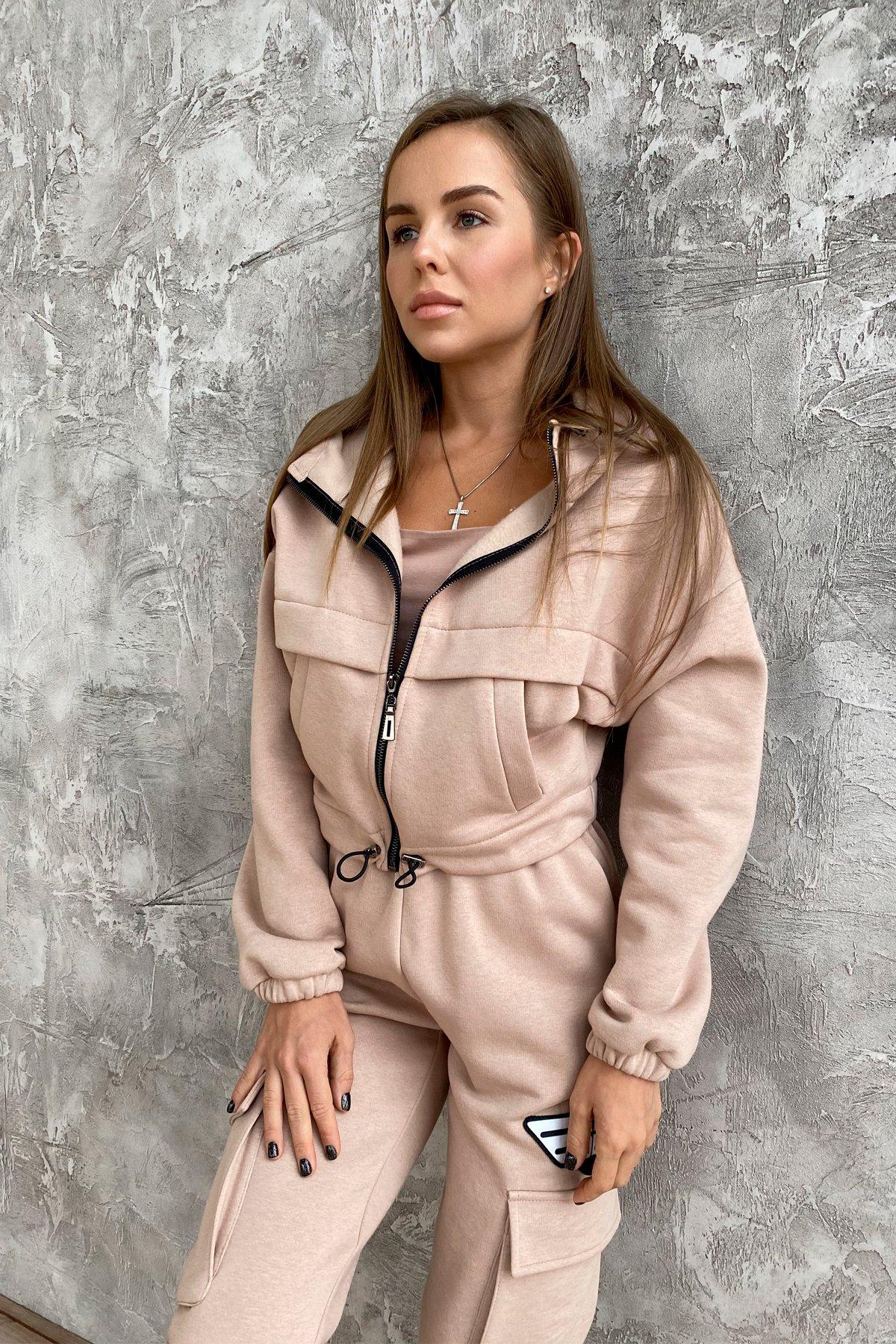 Кьюи  прогулочный костю 3х нитка с начесом 9933 АРТ. 46257 Цвет: Бежевый - фото 4, интернет магазин tm-modus.ru
