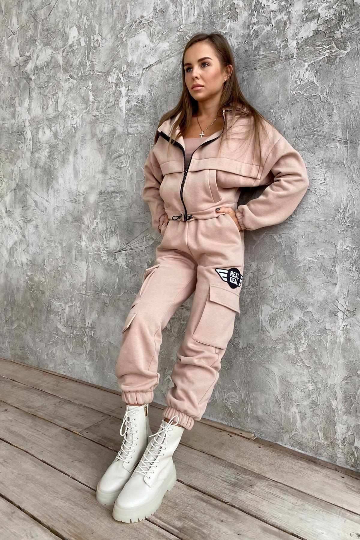 Кьюи  прогулочный костю 3х нитка с начесом 9933 АРТ. 46257 Цвет: Бежевый - фото 6, интернет магазин tm-modus.ru
