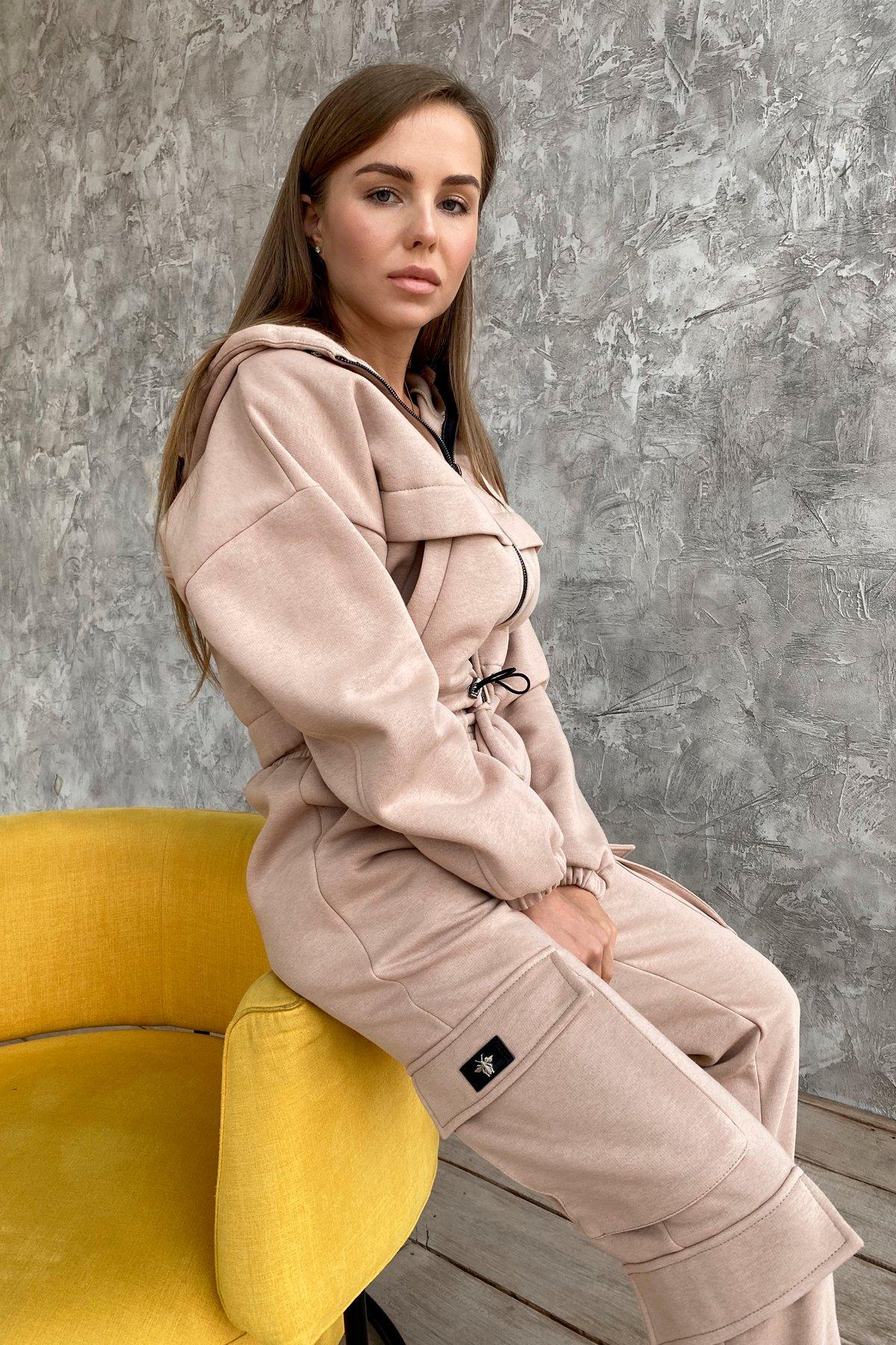 Кьюи  прогулочный костю 3х нитка с начесом 9933 АРТ. 46257 Цвет: Бежевый - фото 8, интернет магазин tm-modus.ru