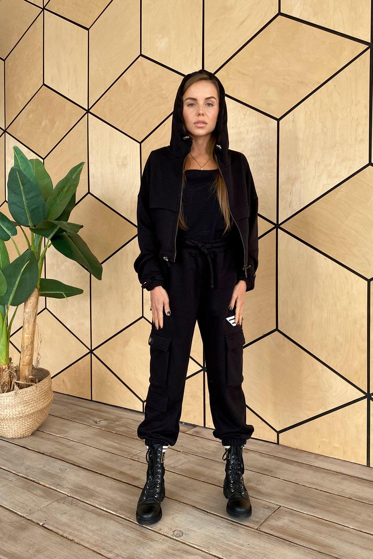 Кьюи  прогулочный костю 3х нитка с начесом 9933 АРТ. 46261 Цвет: Черный - фото 2, интернет магазин tm-modus.ru