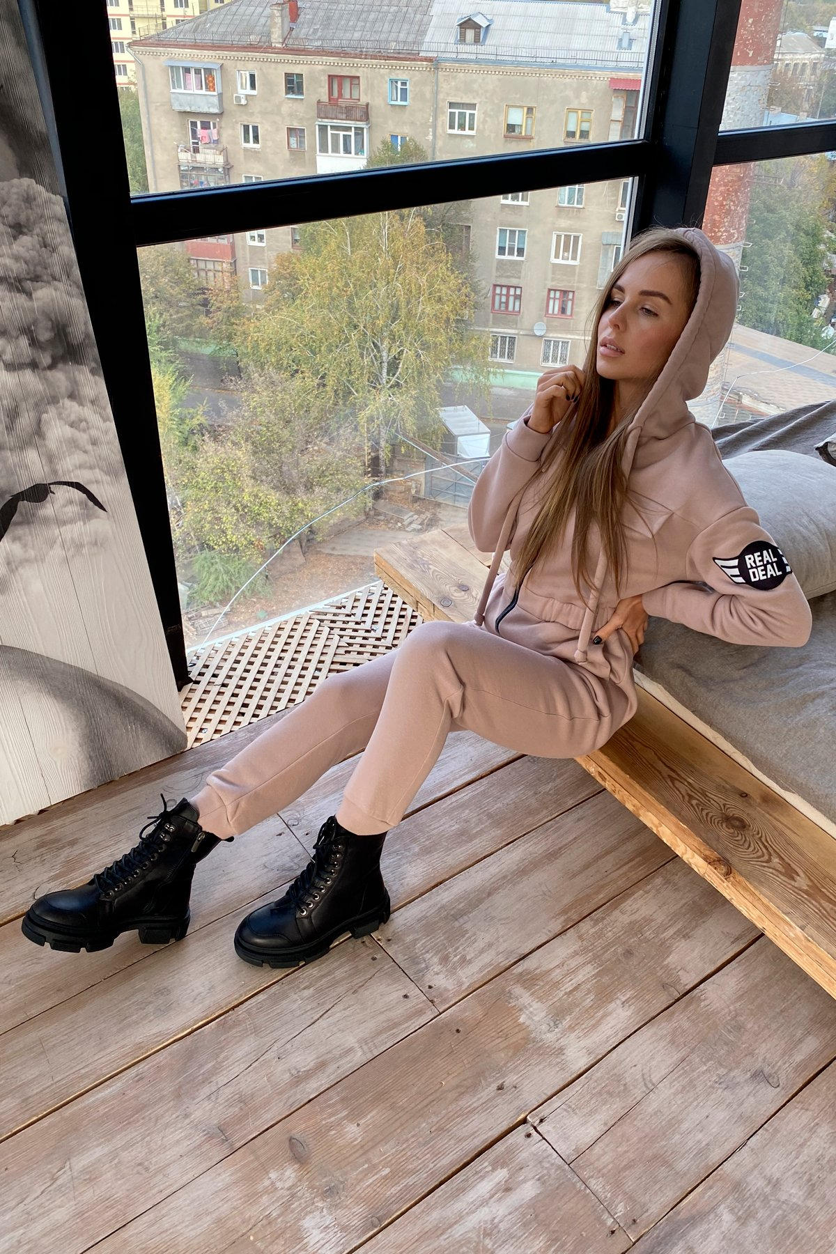 Женская одежда оптом от производителя Толедо 3х нитка с начесом трикотаж комбинезон 9967