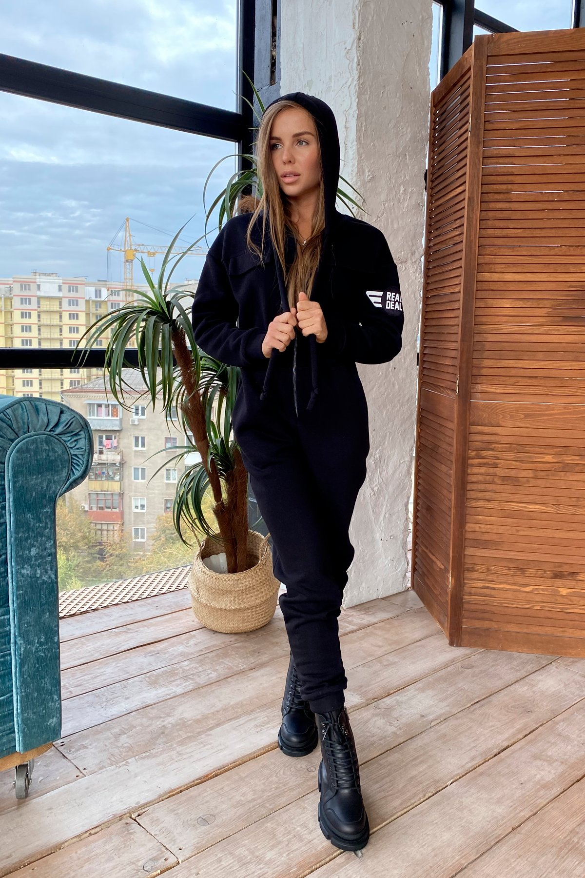 Женские костюмы оптом от производителя Modus Толедо 3х нитка с начесом трикотаж комбинезон 9967