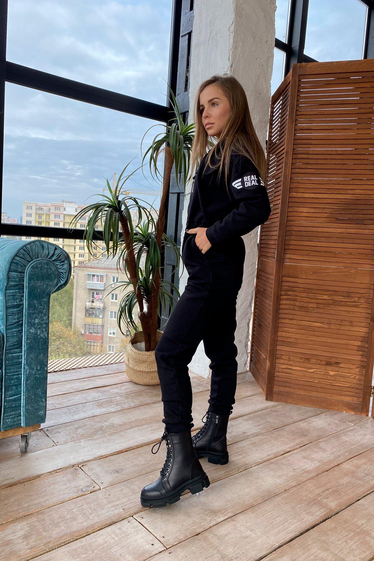 Толедо 3х нитка с начесом трикотаж комбинезон 9967 АРТ. 46248 Цвет: Черный - фото 5, интернет магазин tm-modus.ru