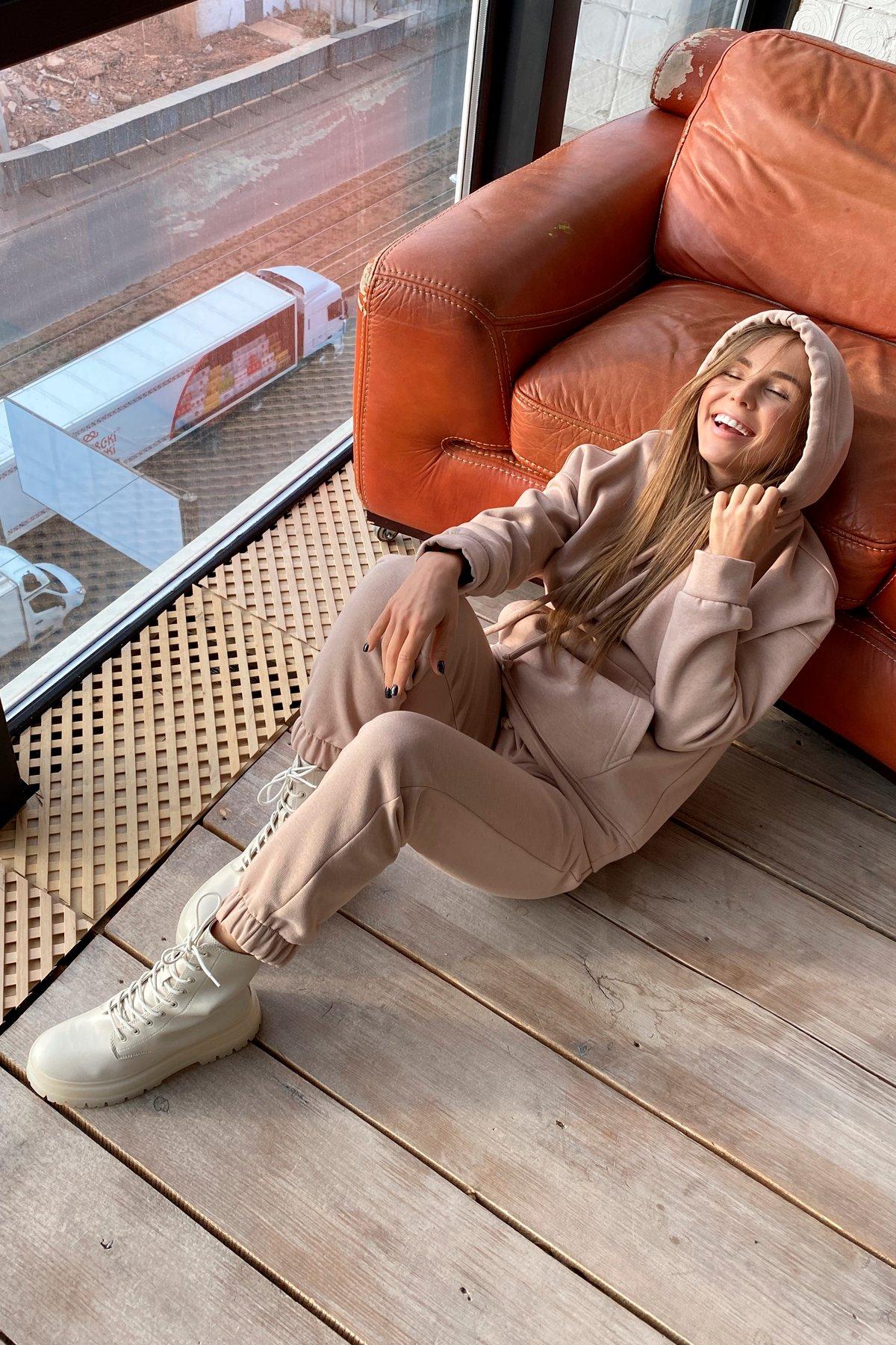 Кул трикотаж 3х нитка с начесом костюм 9981 АРТ. 46268 Цвет: Бежевый - фото 4, интернет магазин tm-modus.ru