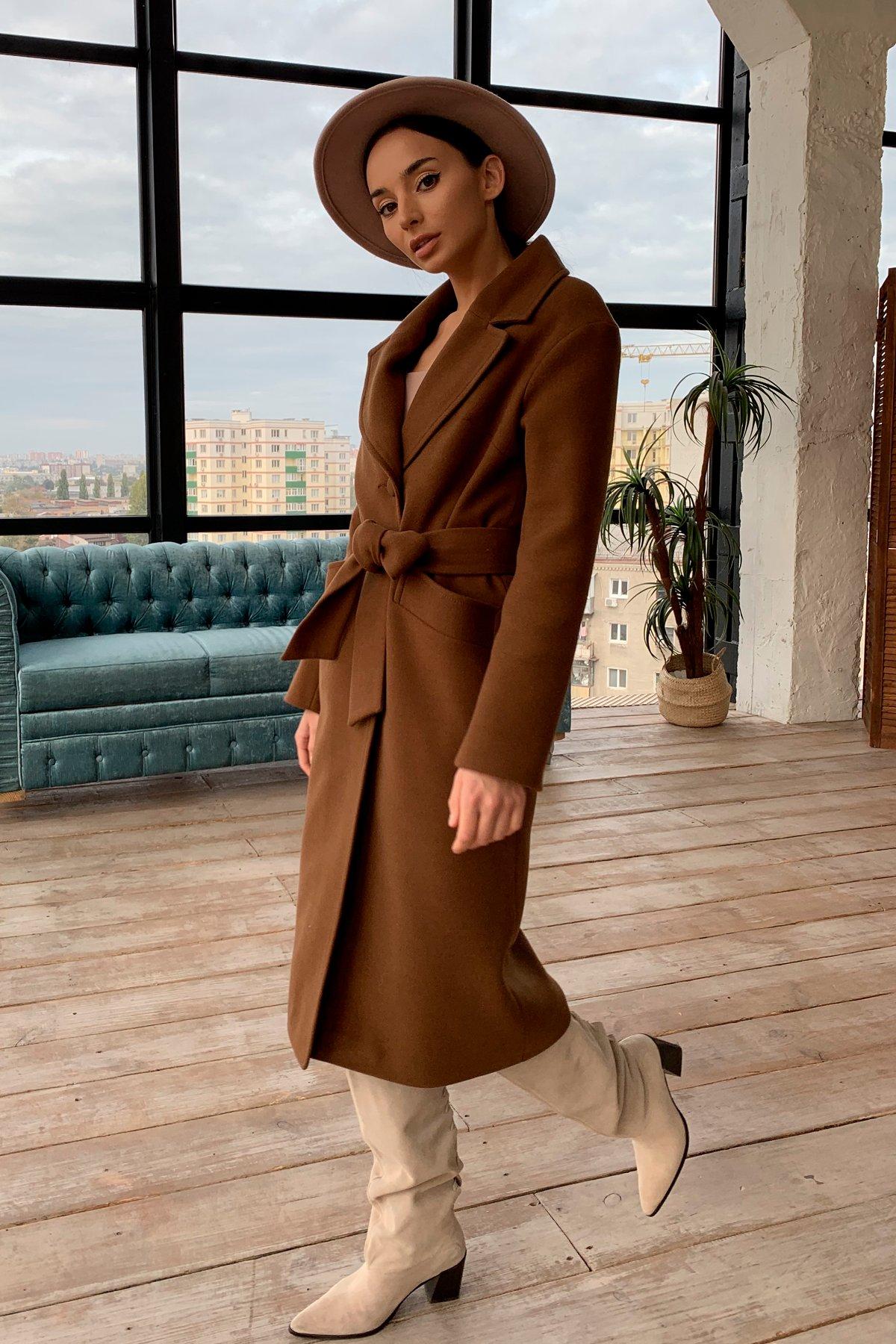 Женское пальто оптом TM Modus Вейсона макси кашемир на трикотаже зима хомут пальто 9942