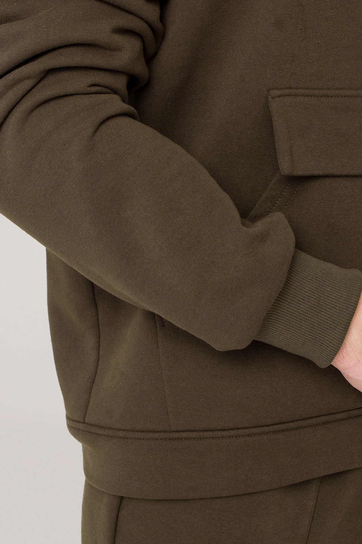 Хелс трикотаж 3х нитка с начесом прогулочный костюм 9990 KRISTATA АРТ. 46291 Цвет: Хаки - фото 1, интернет магазин tm-modus.ru
