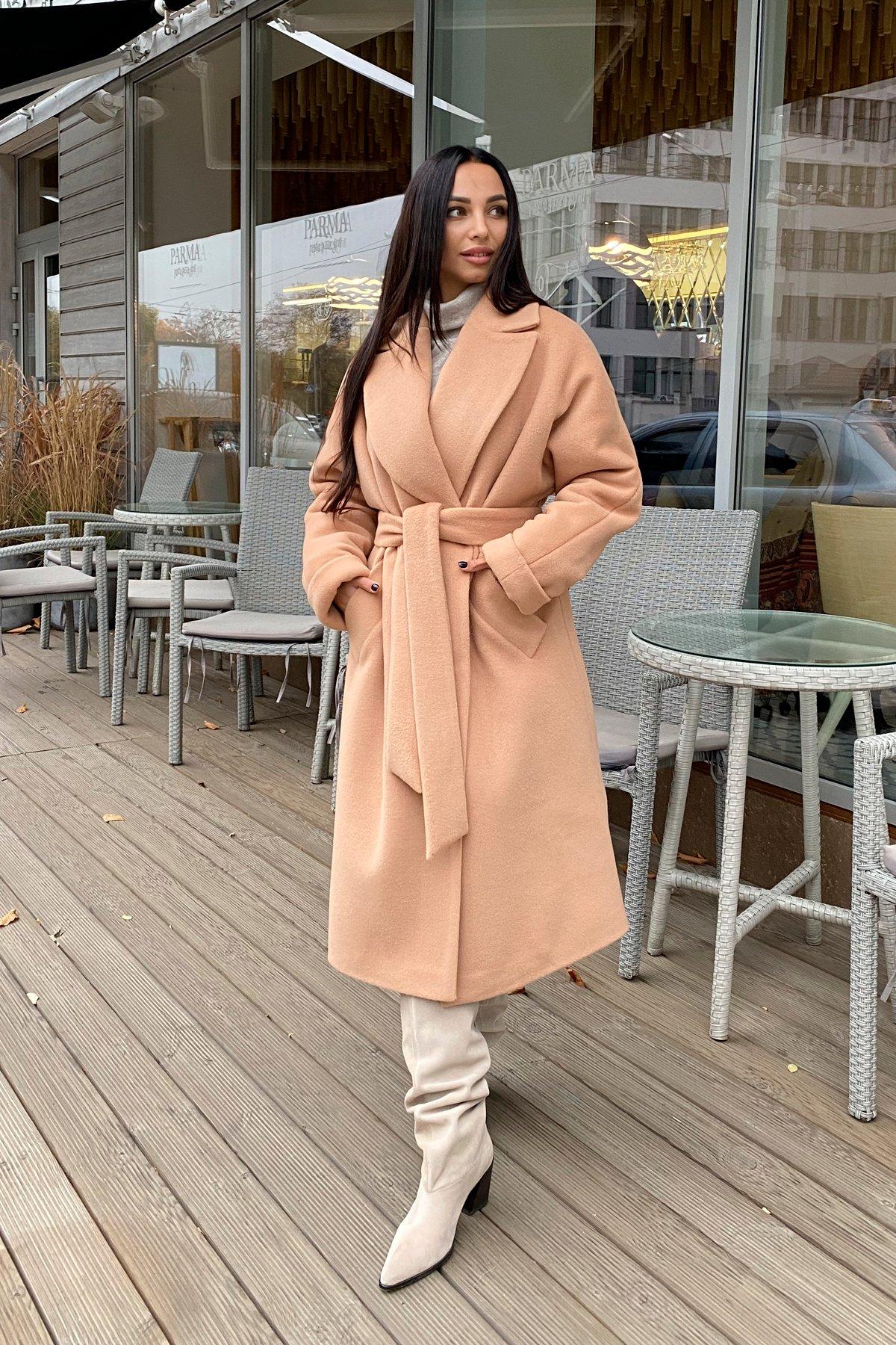 Влада пальтовая ткань ворсовка зима Хомут пальто 10019 АРТ. 46316 Цвет: Кемел - фото 3, интернет магазин tm-modus.ru
