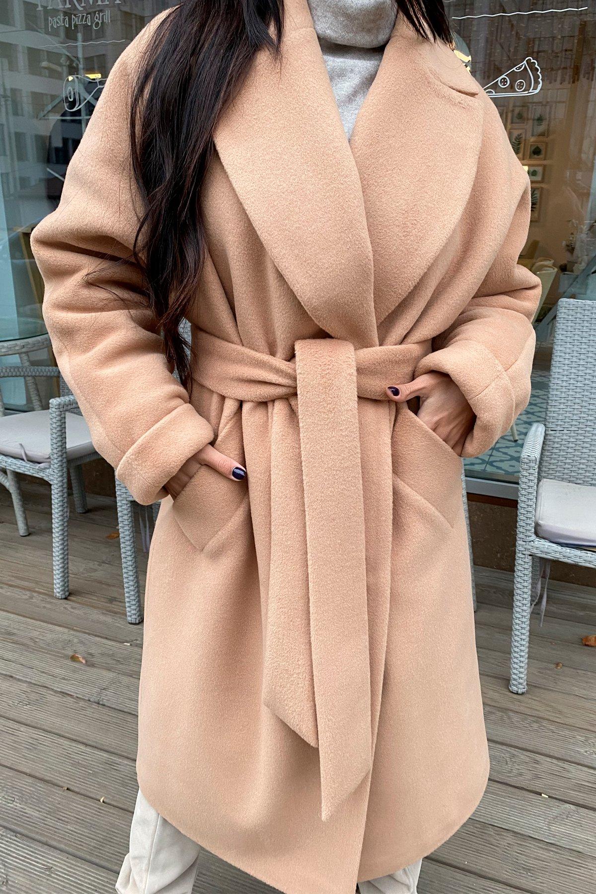 Влада пальтовая ткань ворсовка зима Хомут пальто 10019 АРТ. 46316 Цвет: Кемел - фото 5, интернет магазин tm-modus.ru