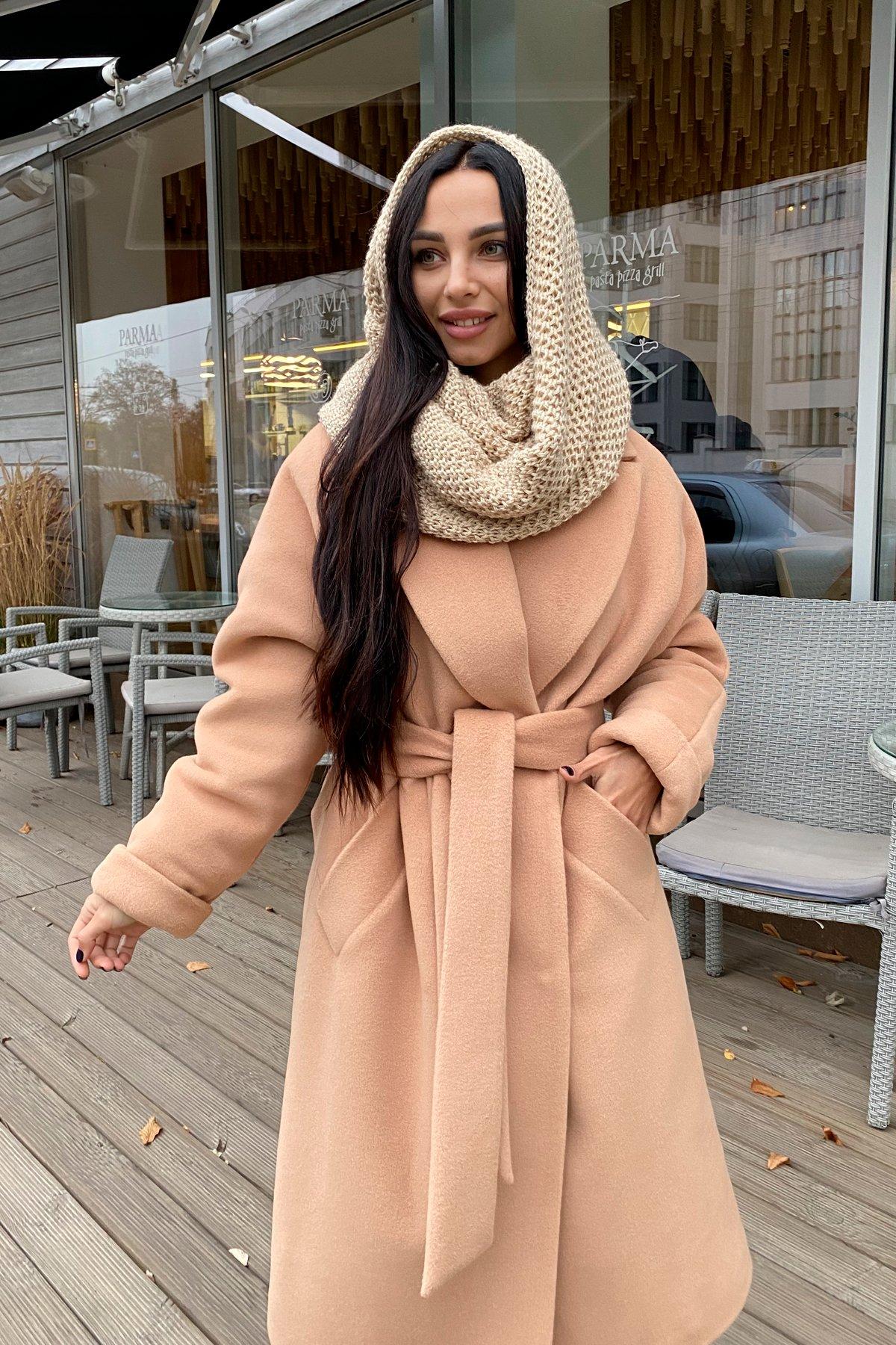 Влада пальтовая ткань ворсовка зима Хомут пальто 10019 АРТ. 46316 Цвет: Кемел - фото 6, интернет магазин tm-modus.ru