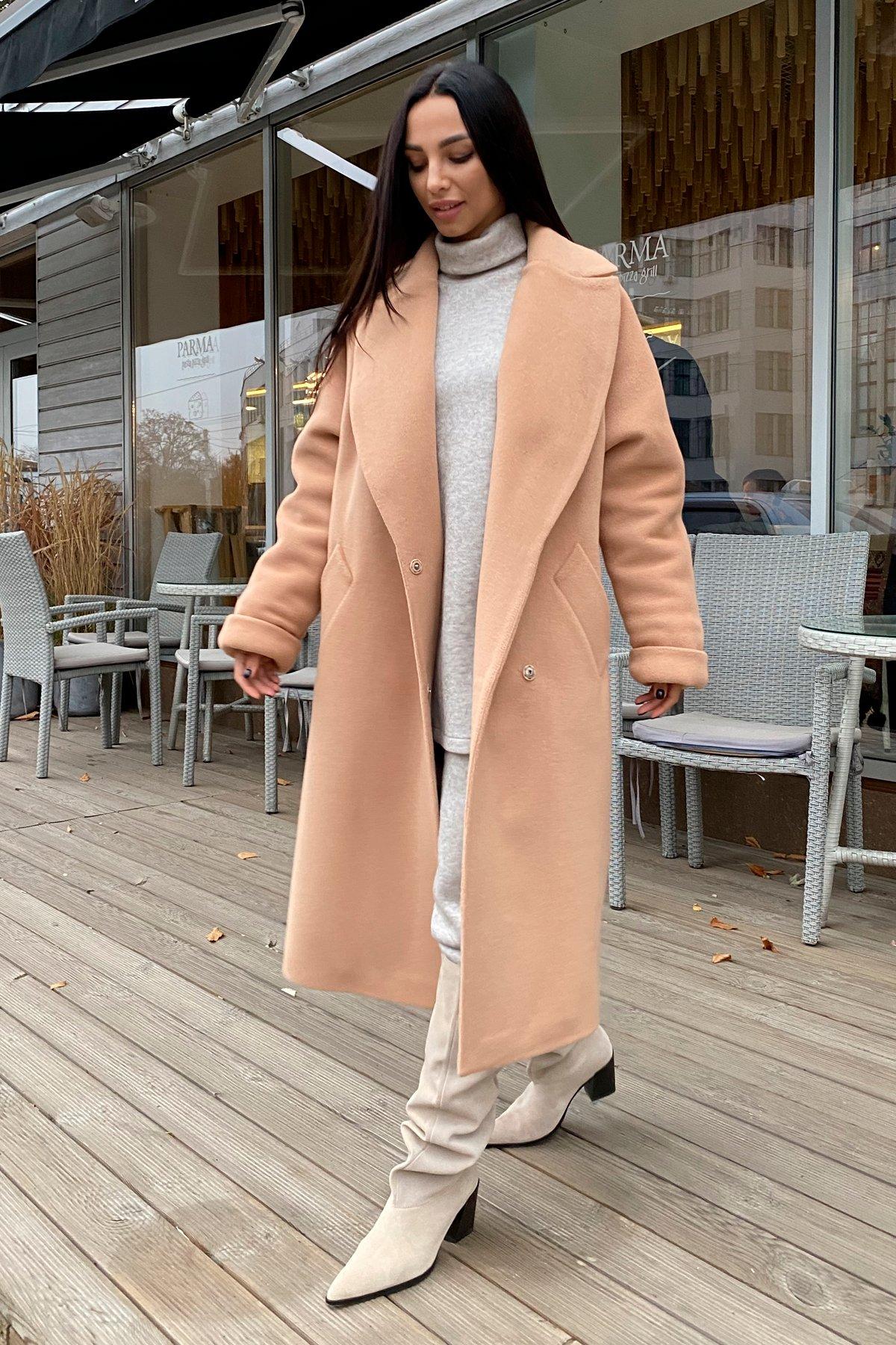 Влада пальтовая ткань ворсовка зима Хомут пальто 10019 АРТ. 46316 Цвет: Кемел - фото 7, интернет магазин tm-modus.ru
