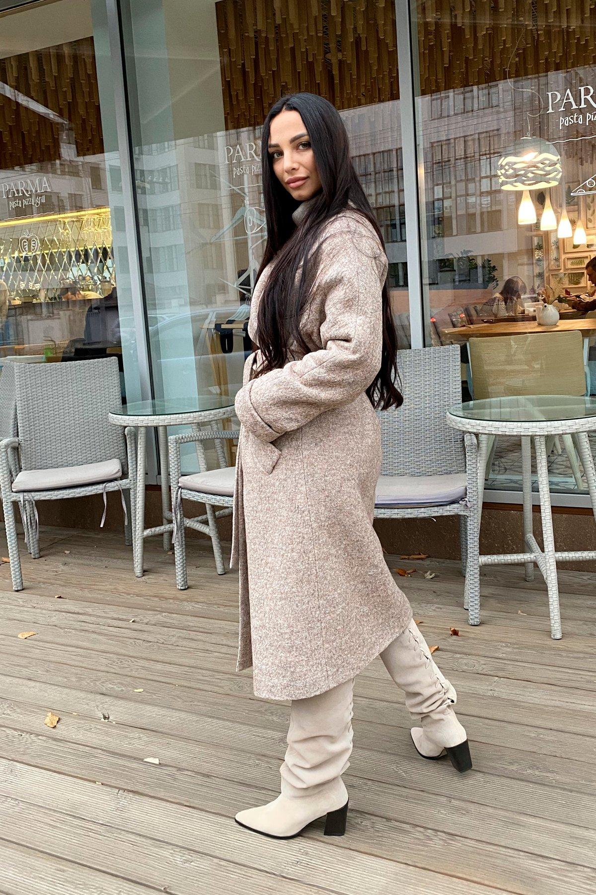 Влада шерсть варенка зима Хомут пальто 10021 АРТ. 46317 Цвет: Бежевый 13 - фото 3, интернет магазин tm-modus.ru