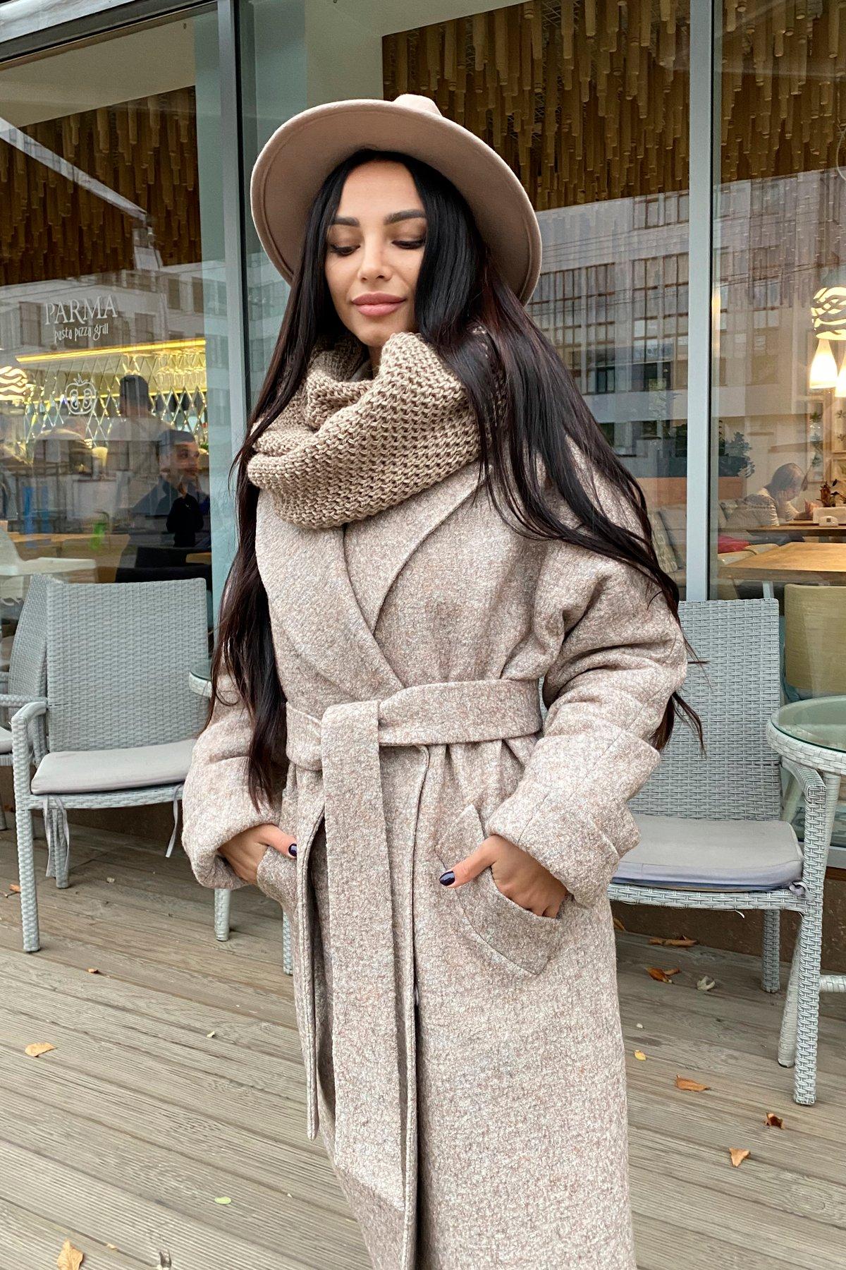 Влада шерсть варенка зима Хомут пальто 10021 АРТ. 46317 Цвет: Бежевый 13 - фото 5, интернет магазин tm-modus.ru