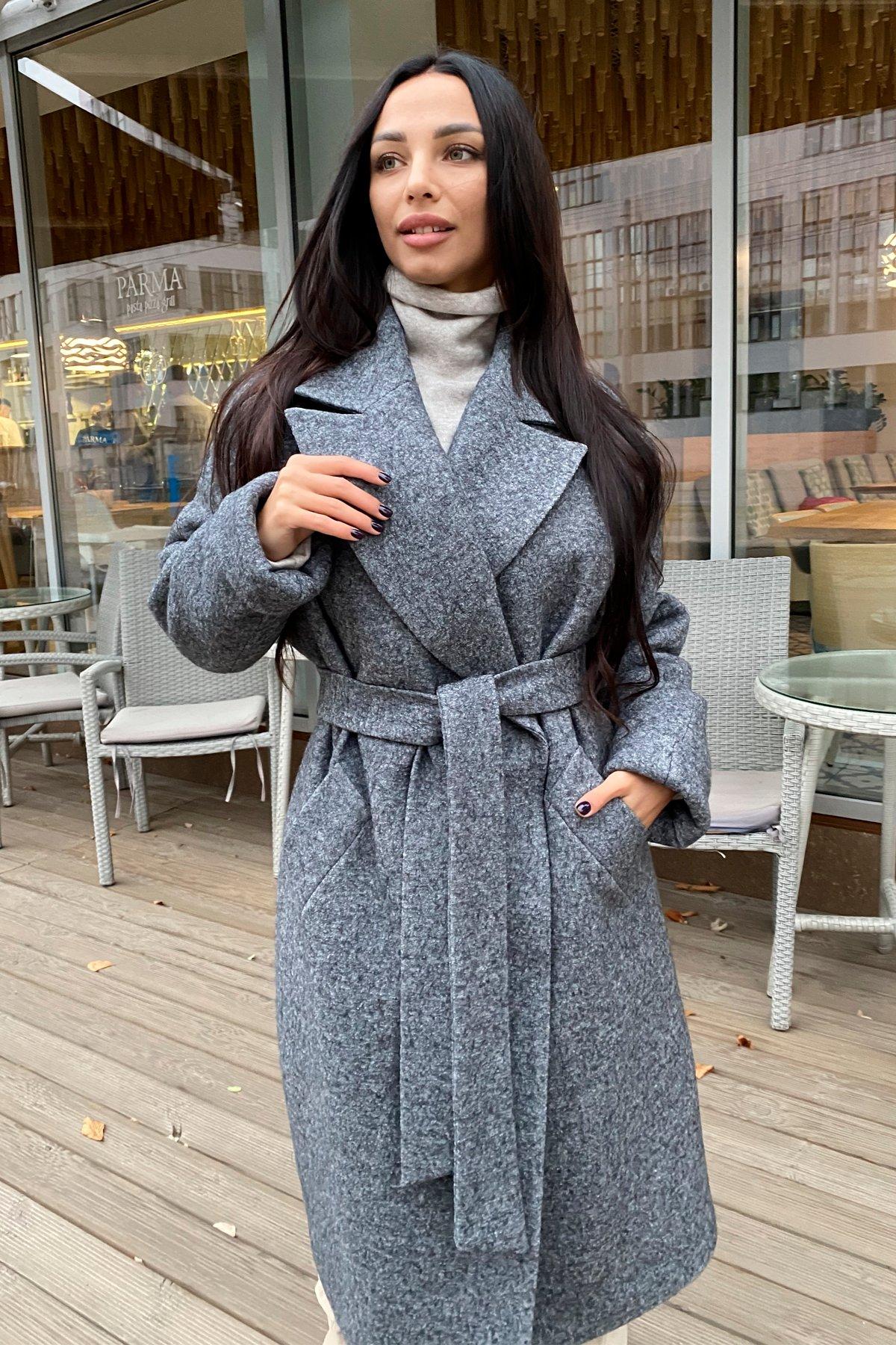 Влада шерсть варенка зима Хомут пальто 10021 АРТ. 46318 Цвет: Серый темный 5 - фото 2, интернет магазин tm-modus.ru