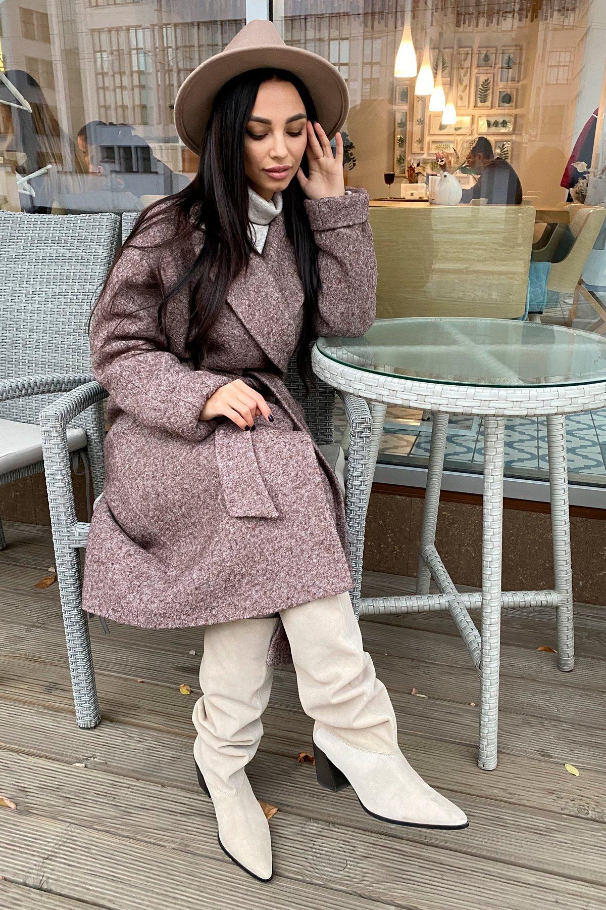 Влада шерсть варенка зима Хомут пальто 10021 АРТ. 46319 Цвет: Кофе - фото 4, интернет магазин tm-modus.ru