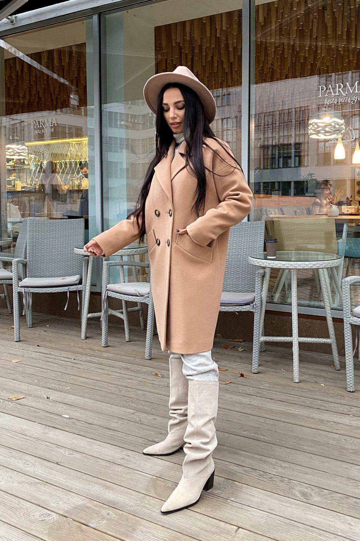 Сенсей кашемир турецкий зима пальто 10043 АРТ. 46336 Цвет: Кемел - фото 2, интернет магазин tm-modus.ru